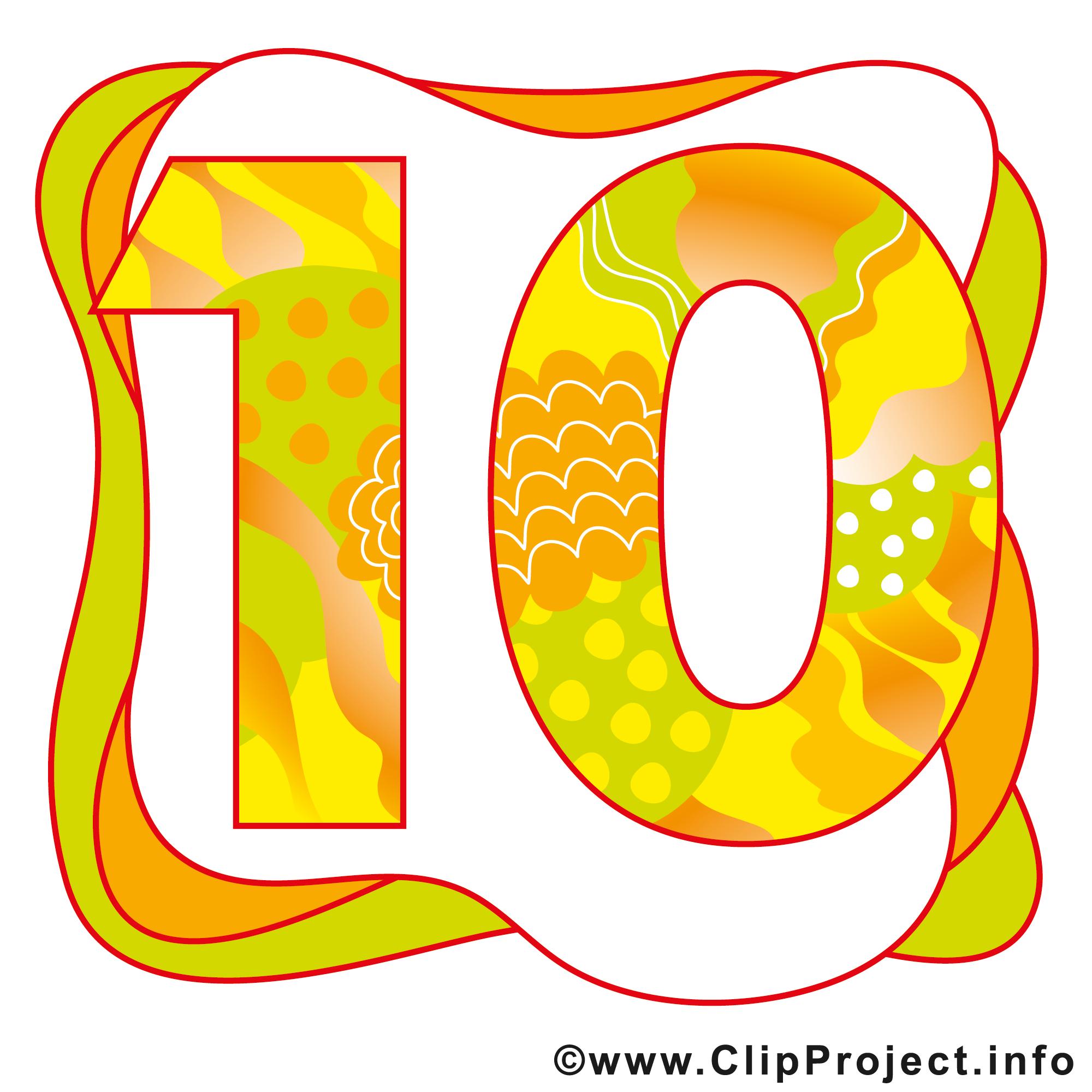 10 Ans Illustration Anniversaire Images Anniversaire Dessin Picture Image Graphic Clip Art Telecharger Gratuit