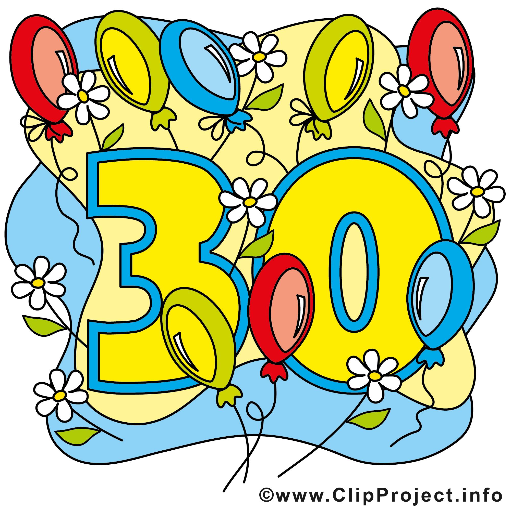 30 Ans Image Gratuite Anniversaire Illustration Anniversaire Dessin Picture Image Graphic Clip Art Telecharger Gratuit