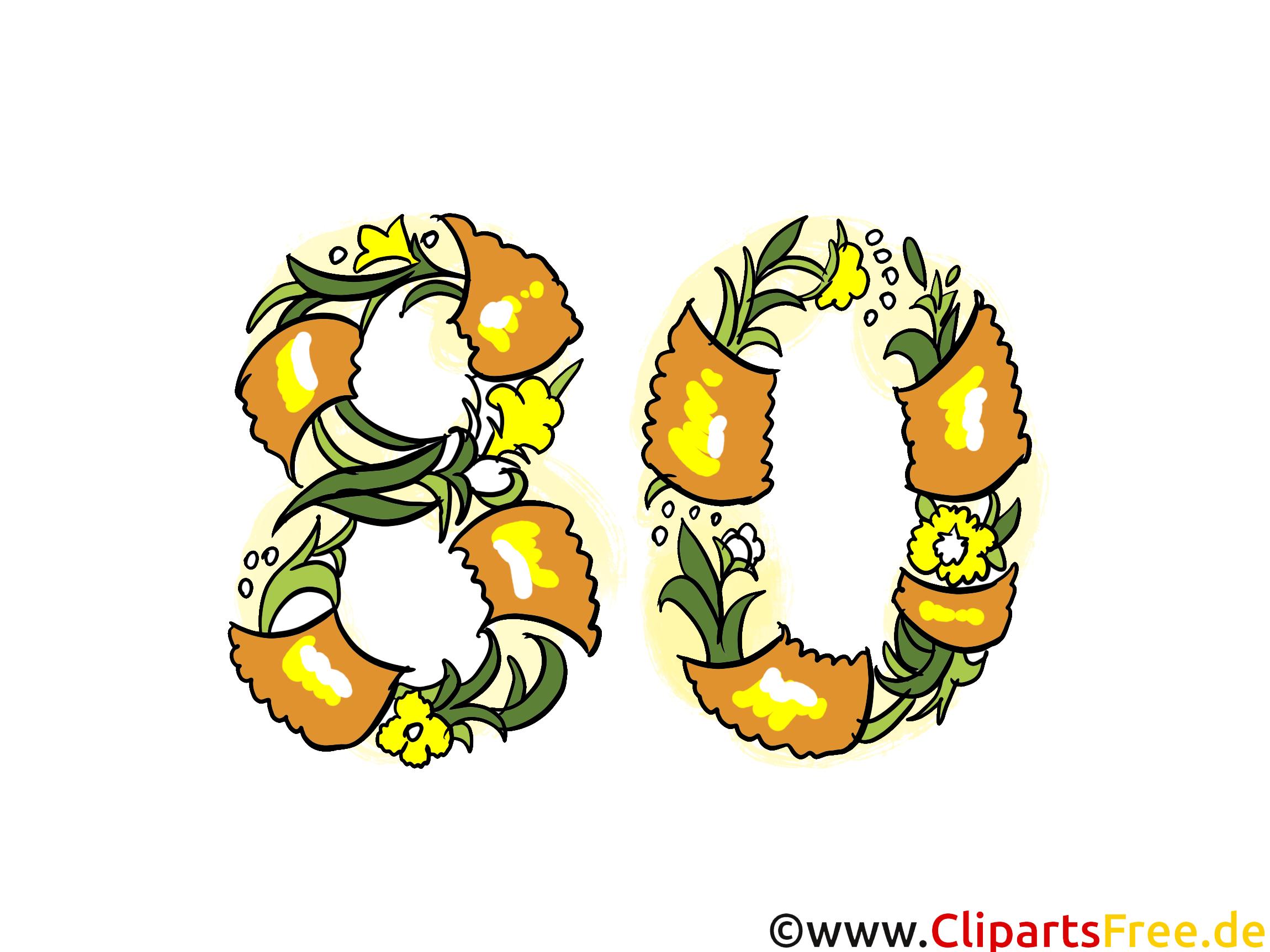 80 ans image gratuite anniversaire cliparts - Carte anniversaire 80 ans gratuite a imprimer ...
