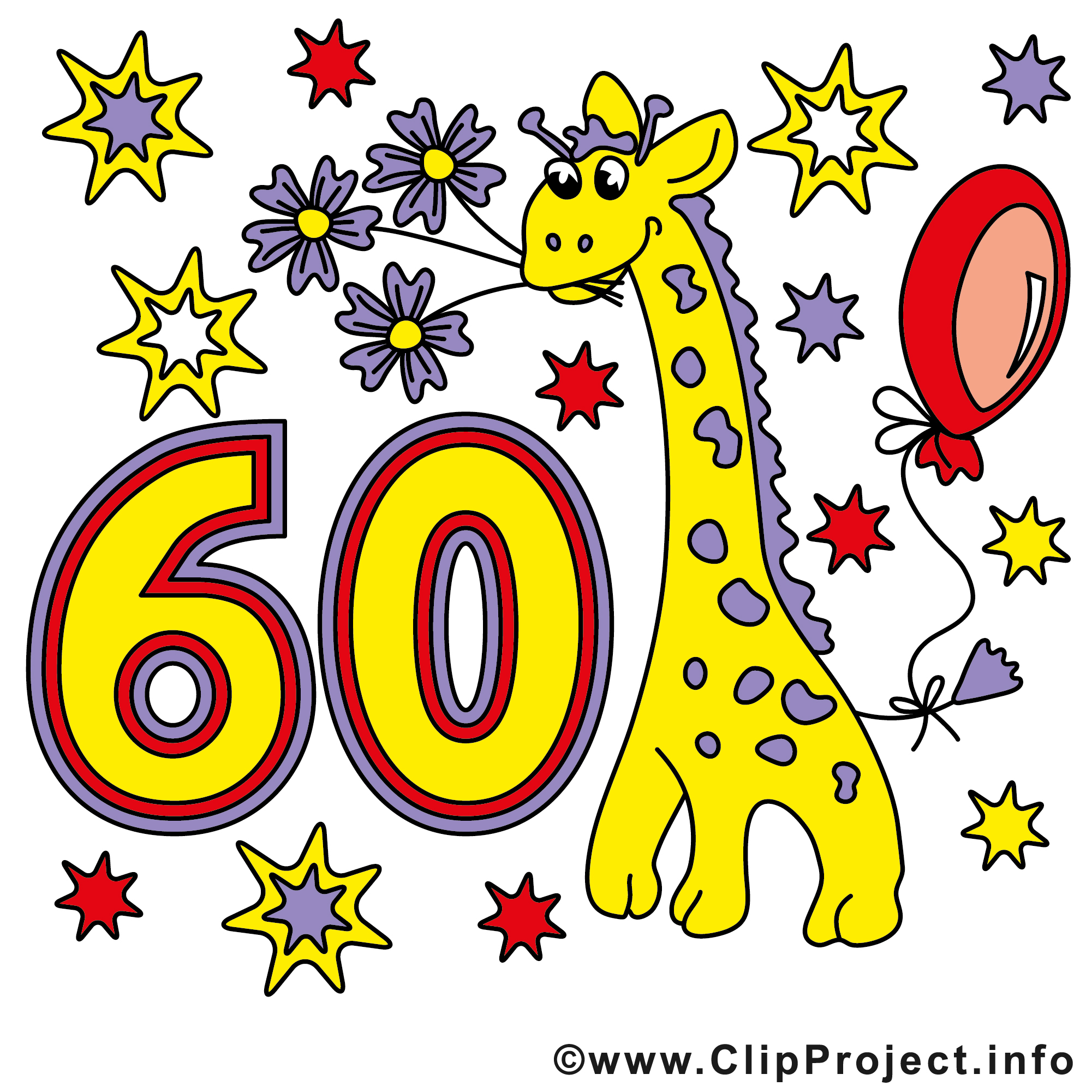 Girafe 60 ans images anniversaire clip art gratuit anniversaire dessin picture image - Clipart anniversaire 60 ans ...