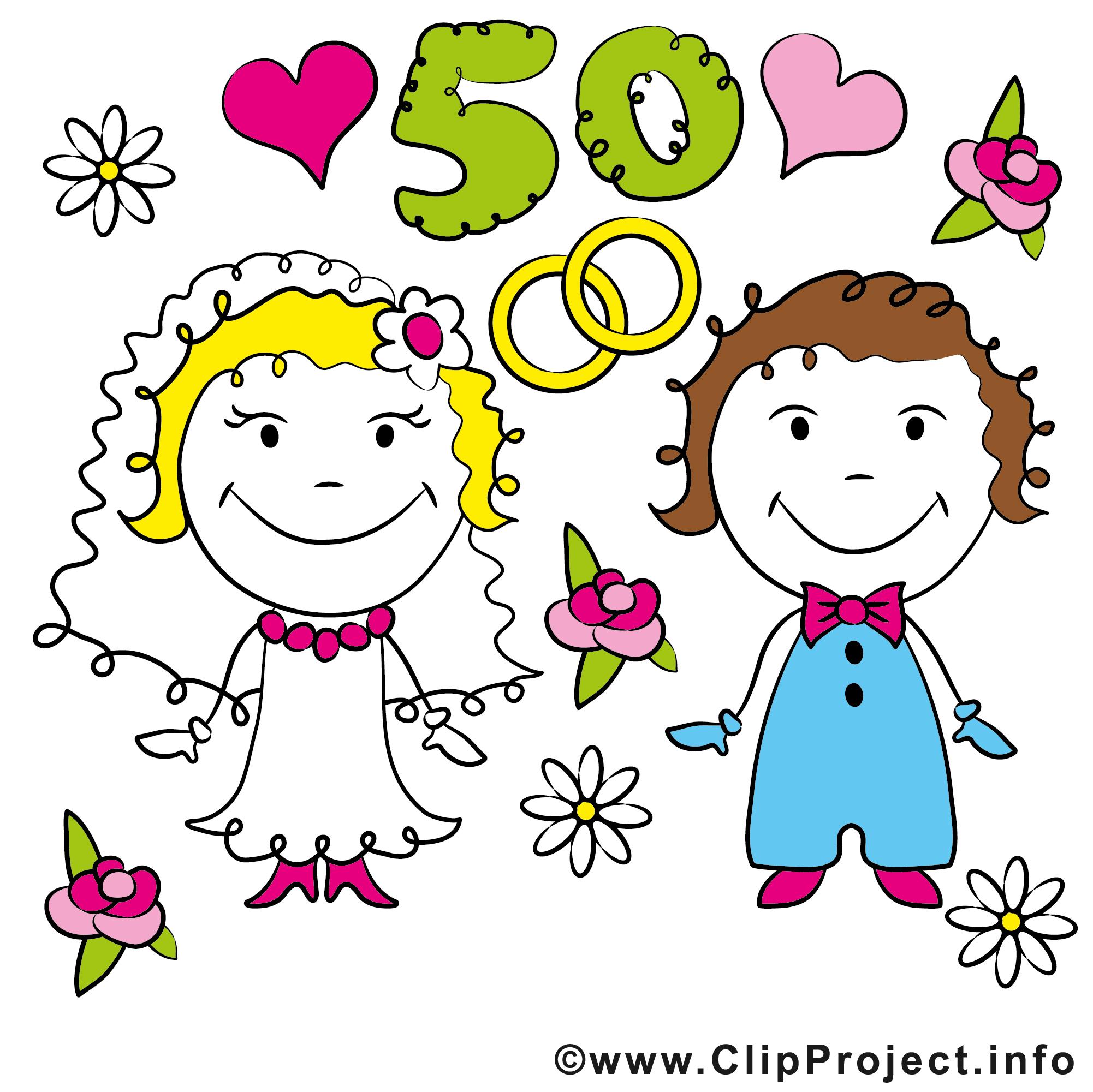 50 Ans Anniversaire Mariage Clipart Anniversaires De Mariage
