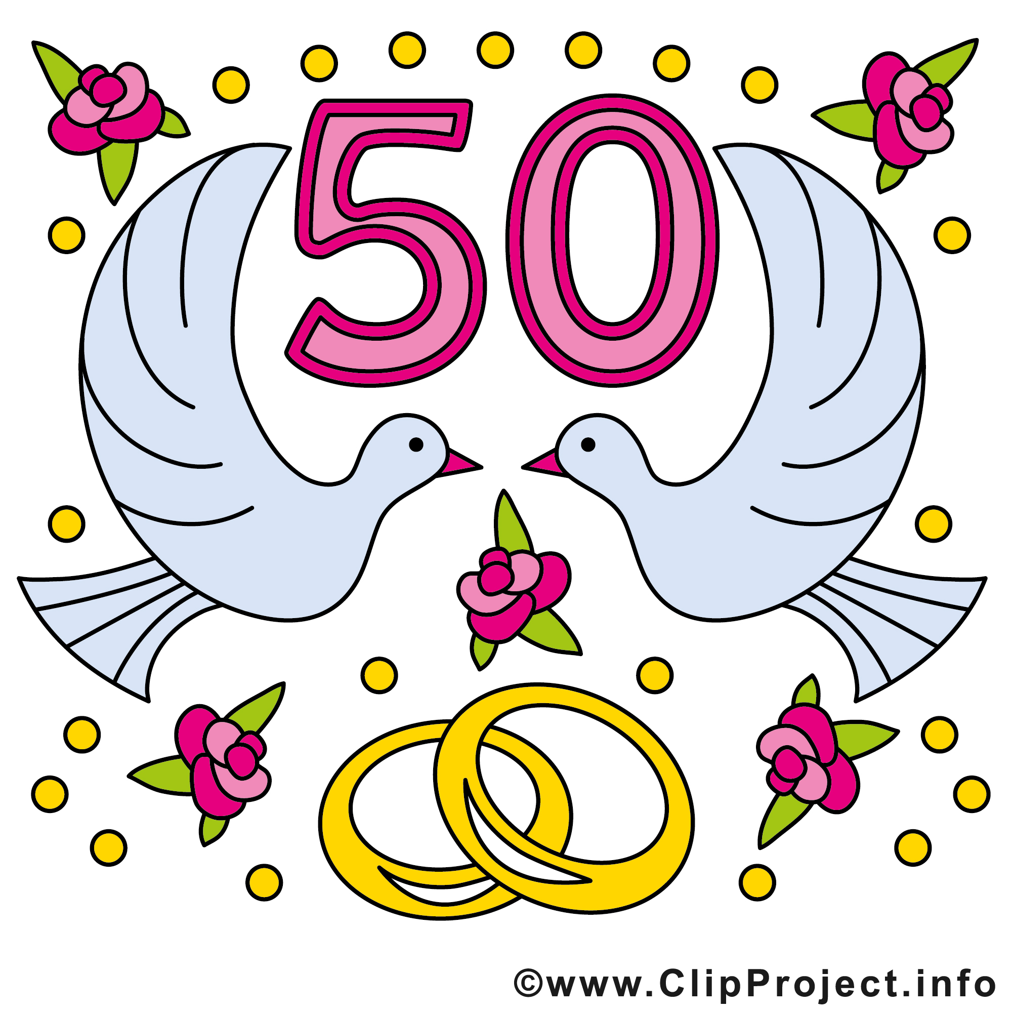 50 ans colombes anniversaire mariage images anniversaires de mariage dessin picture image - Clipart anniversaire gratuit telecharger ...