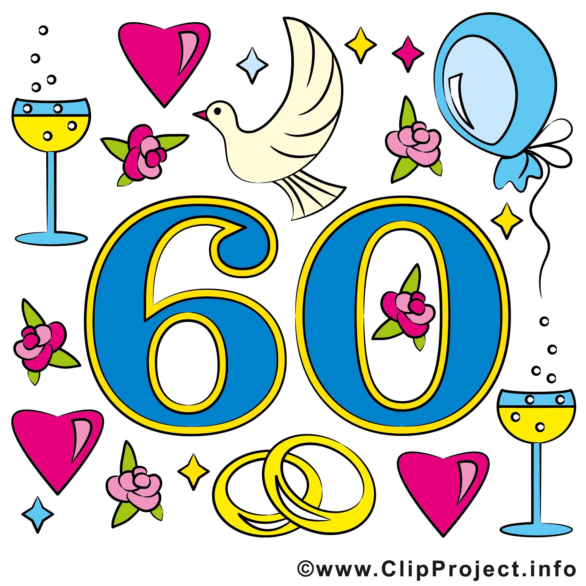 60 ans anniversaire mariage cliparts anniversaires de mariage dessin picture image graphic - Clipart anniversaire 60 ans ...