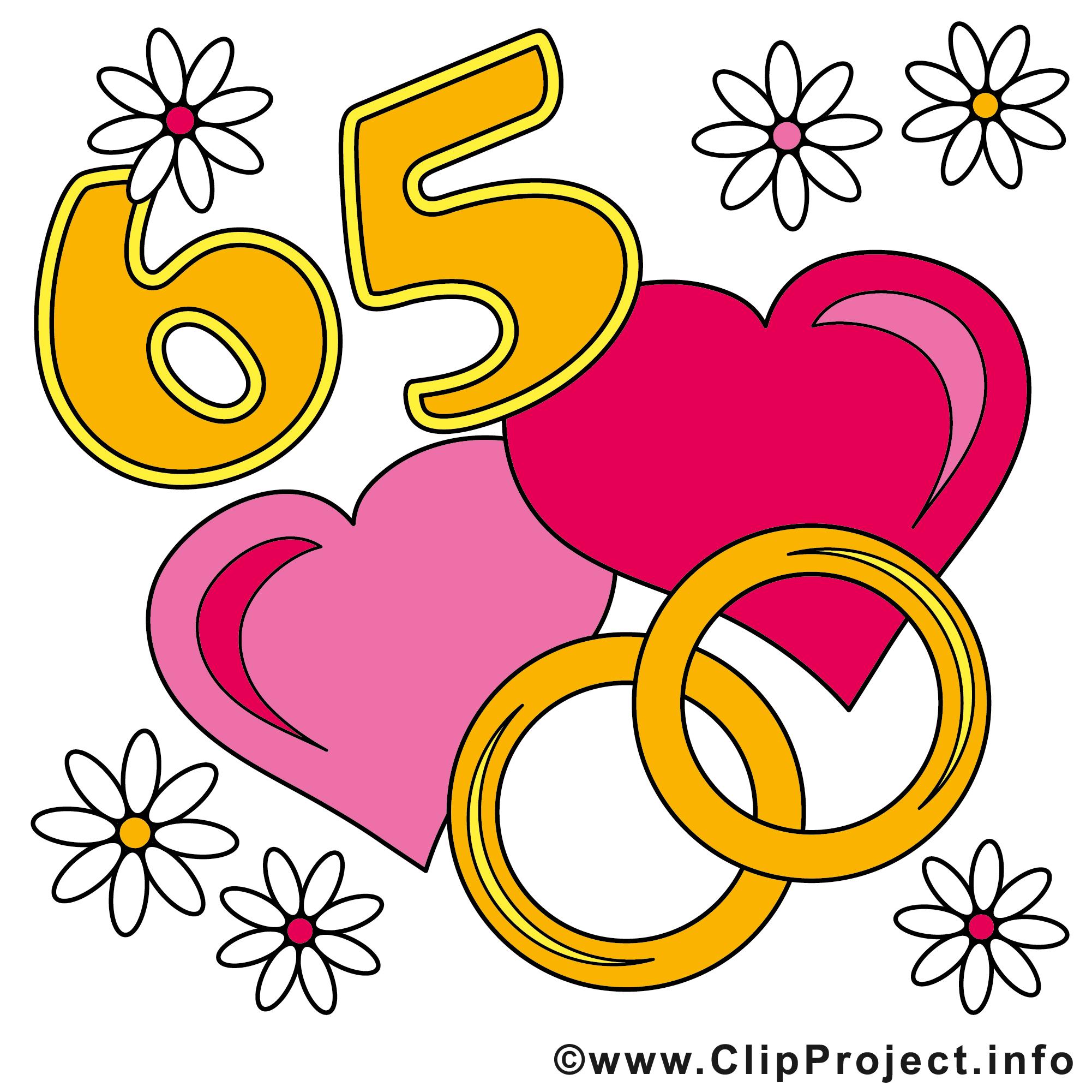 65 ans anniversaire mariage clip art gratuit - Anniversaires de mariage dessin, picture, image ...