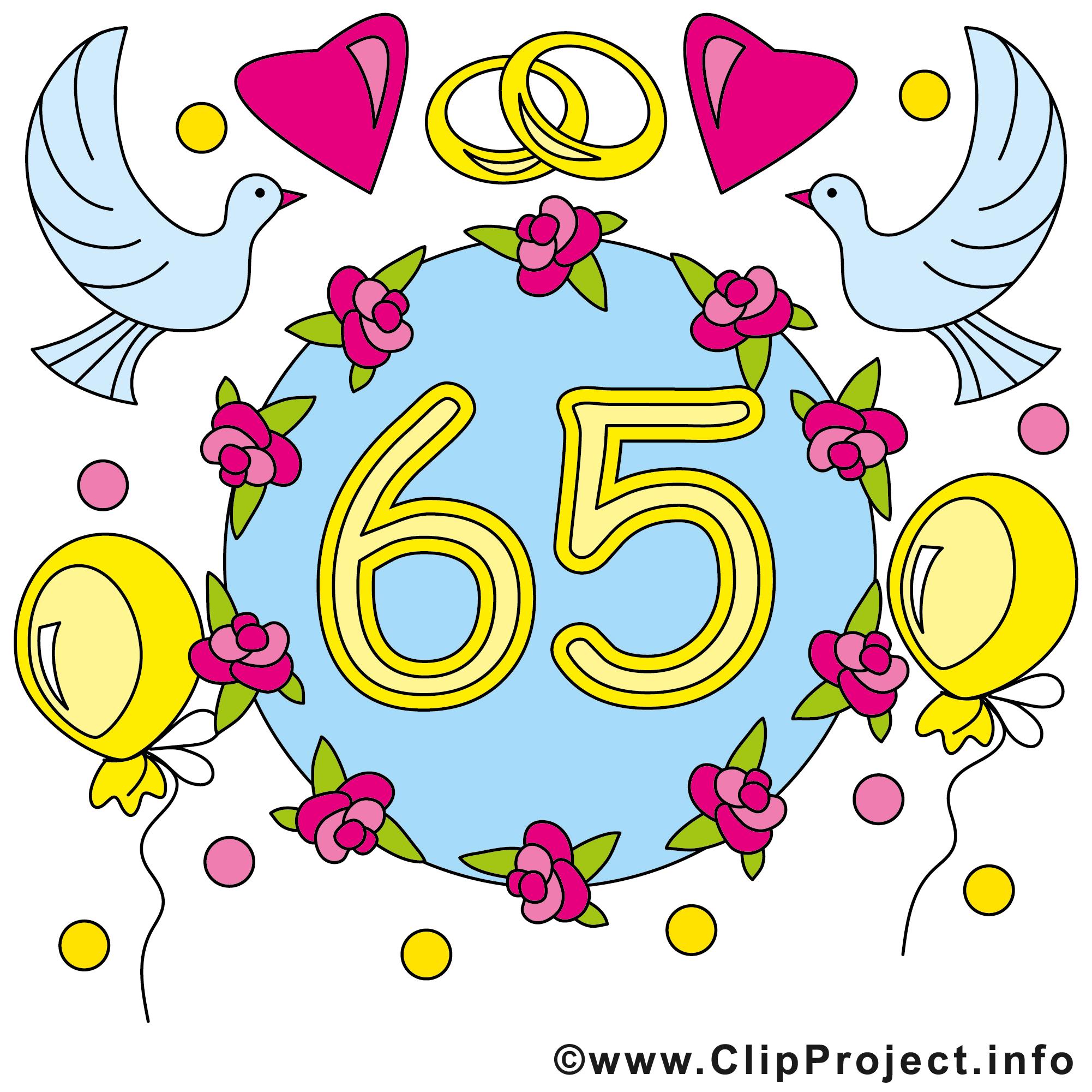 65 ans anniversaire mariage cliparts t l charger anniversaires de mariage dessin picture - Clipart anniversaire gratuit telecharger ...