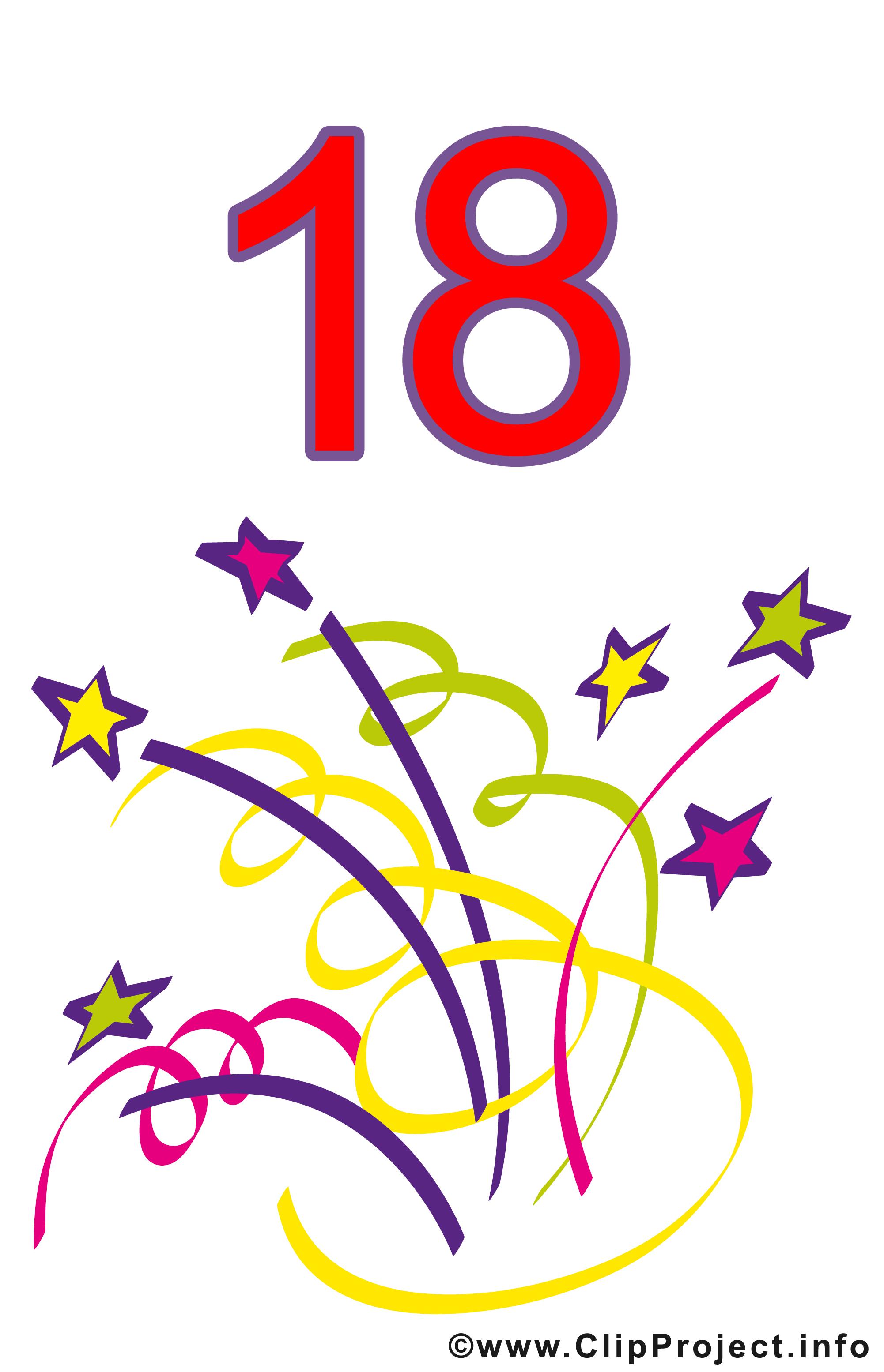 18 ans clipart anniversaire dessins gratuits cartes virtuelles anniversaire dessin picture - Clipart anniversaire gratuit telecharger ...