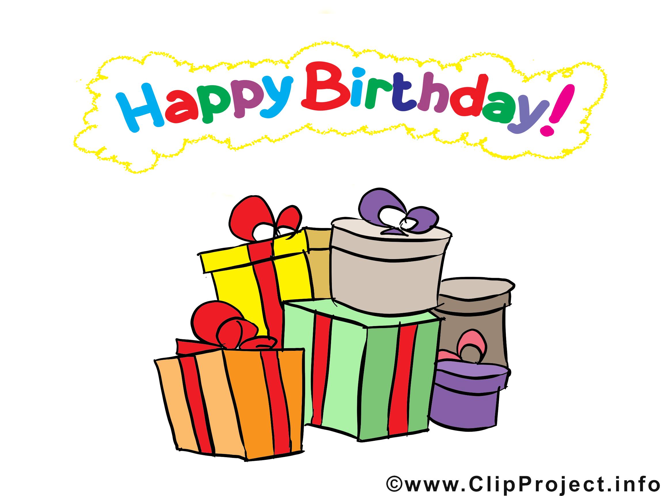 Cadeaux dessin anniversaire cliparts t l charger - Dessin cadeau anniversaire ...
