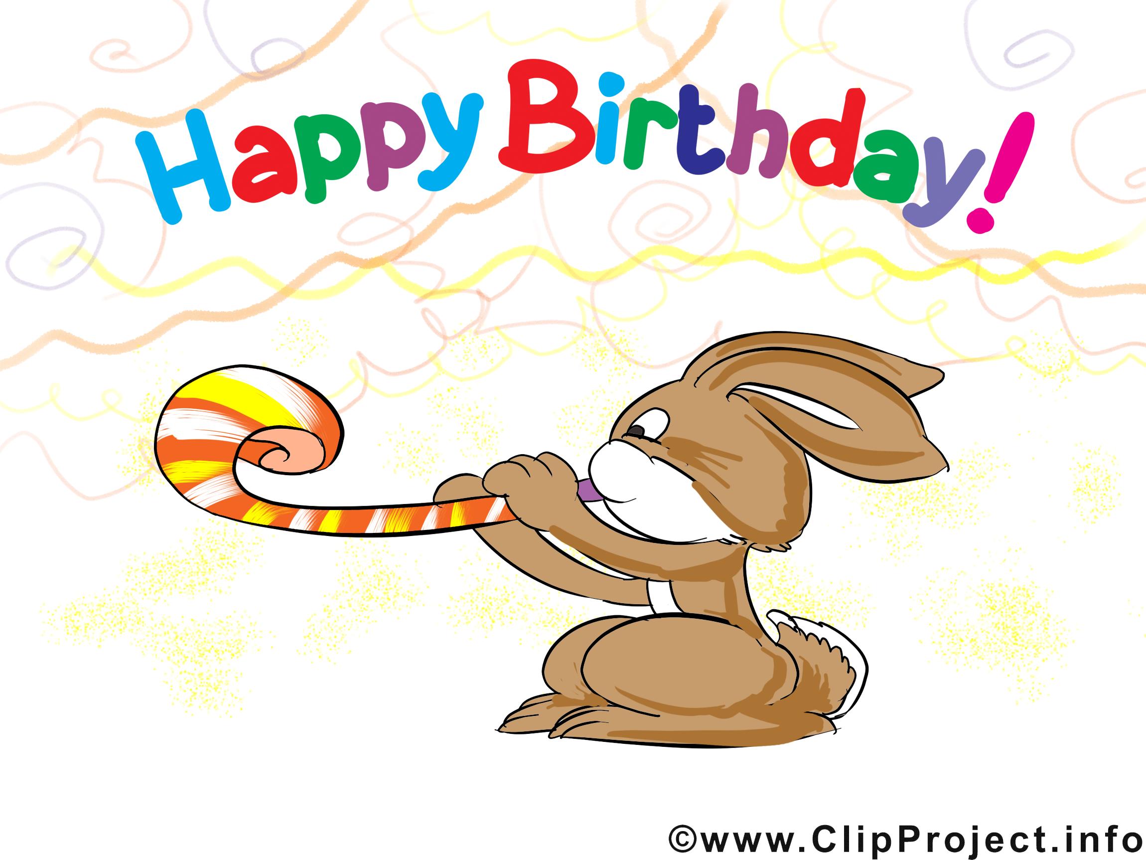 Lapin dessins gratuits anniversaire clipart cartes - Clipart anniversaire gratuit ...