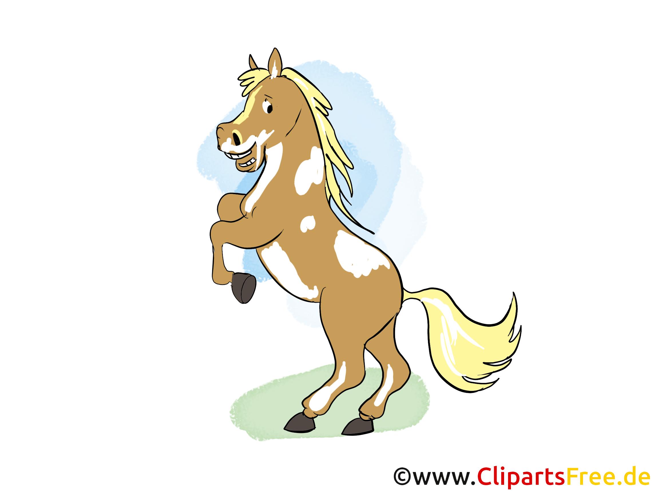 Clipart Cheval Gratuit sur ses pattes de derrière image gratuite – cheval clipart - chevaux