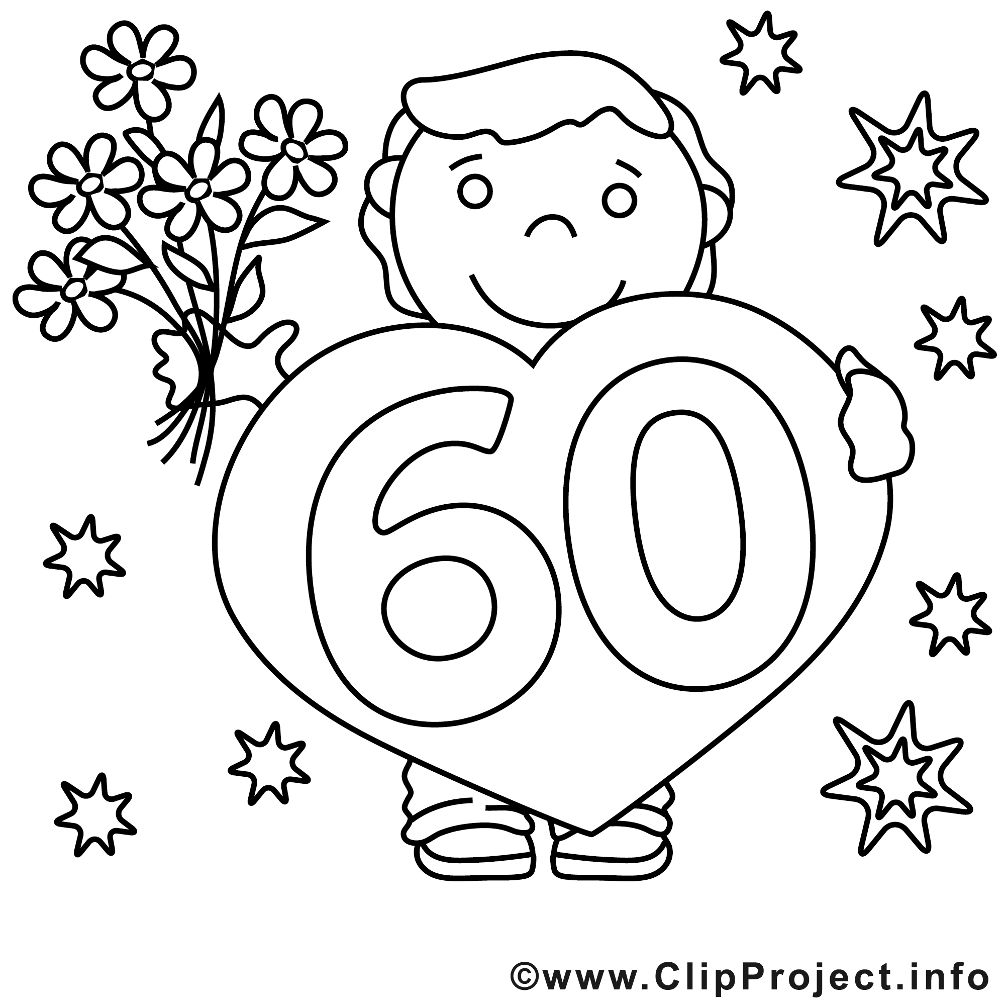 60 ans clip art gratuit anniversaire imprimer. Black Bedroom Furniture Sets. Home Design Ideas