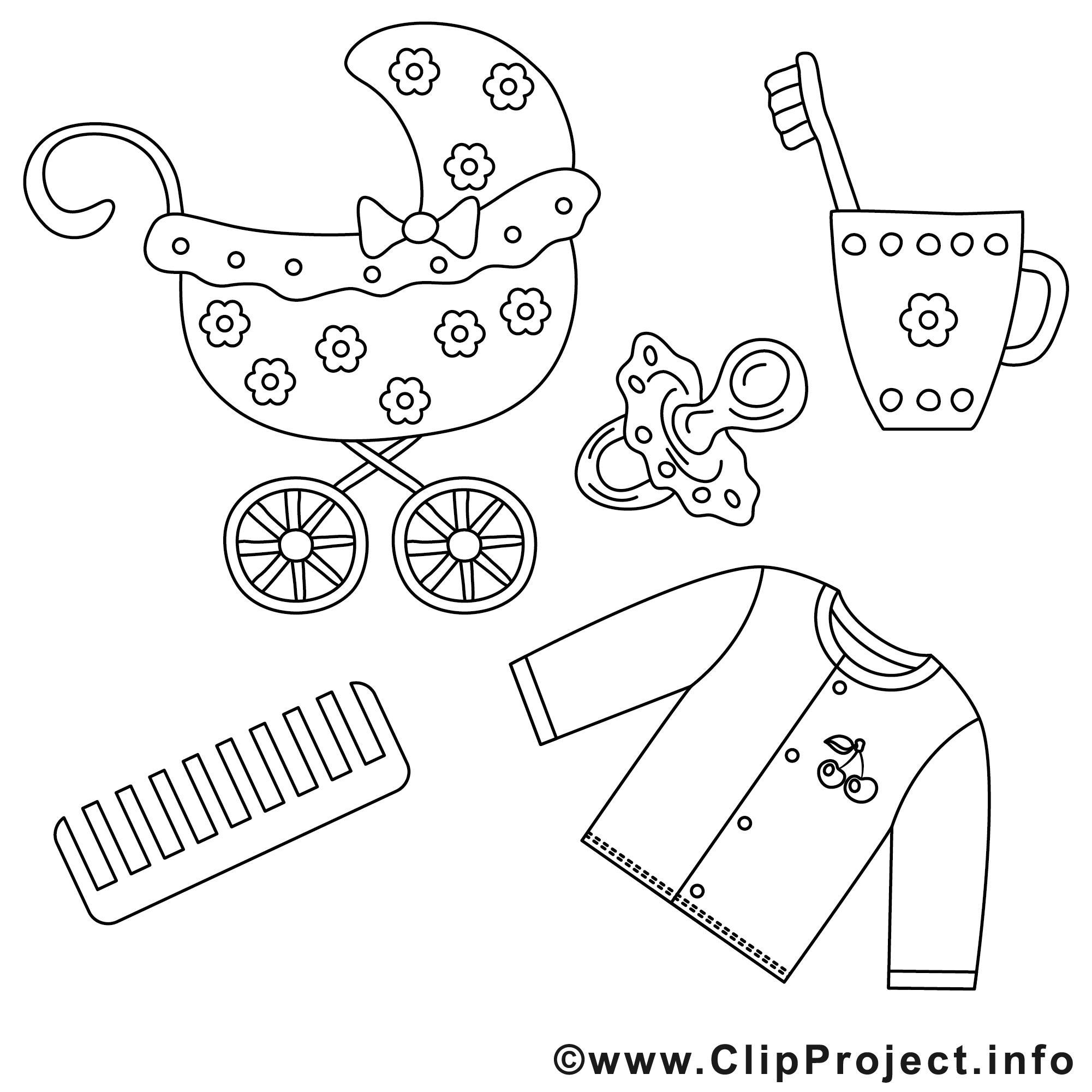 poussette images  bébé gratuit à imprimer  bébé