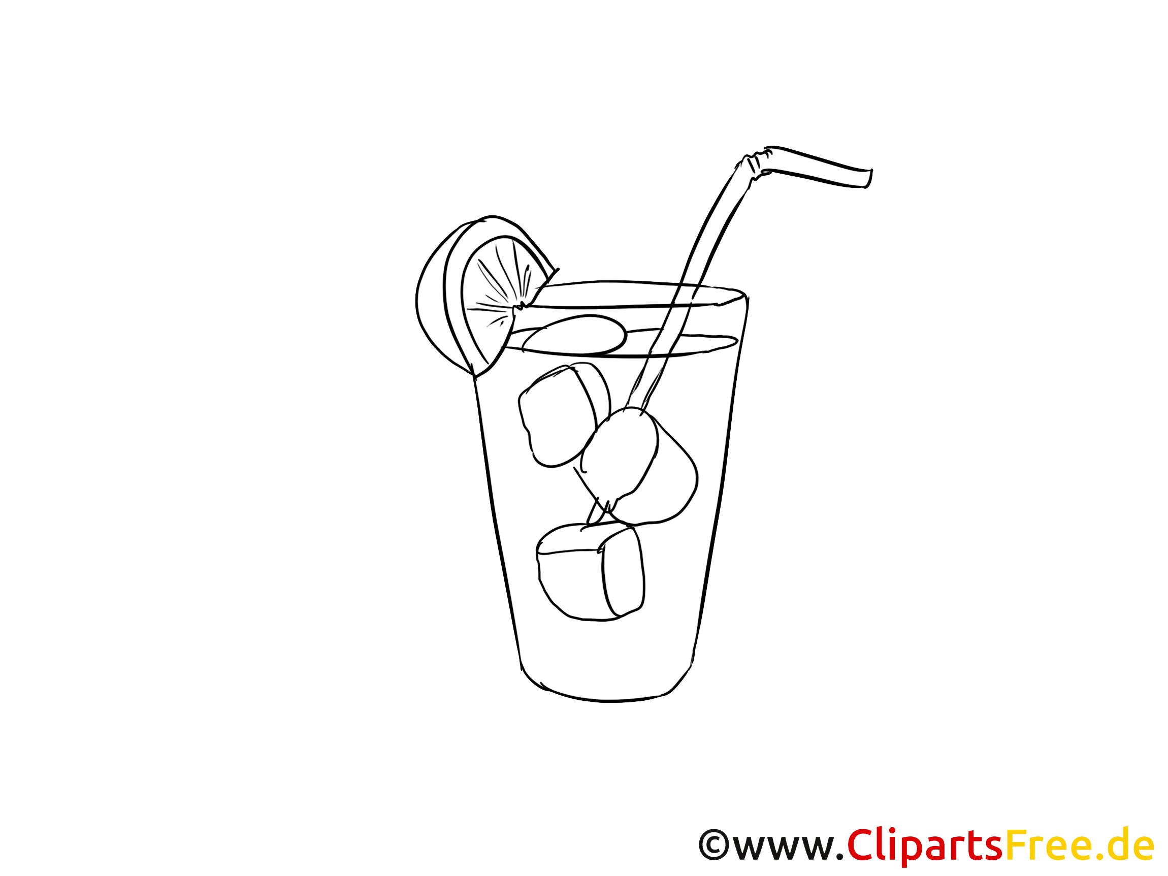 cocktail dessin  coloriage mardi gras à télécharger