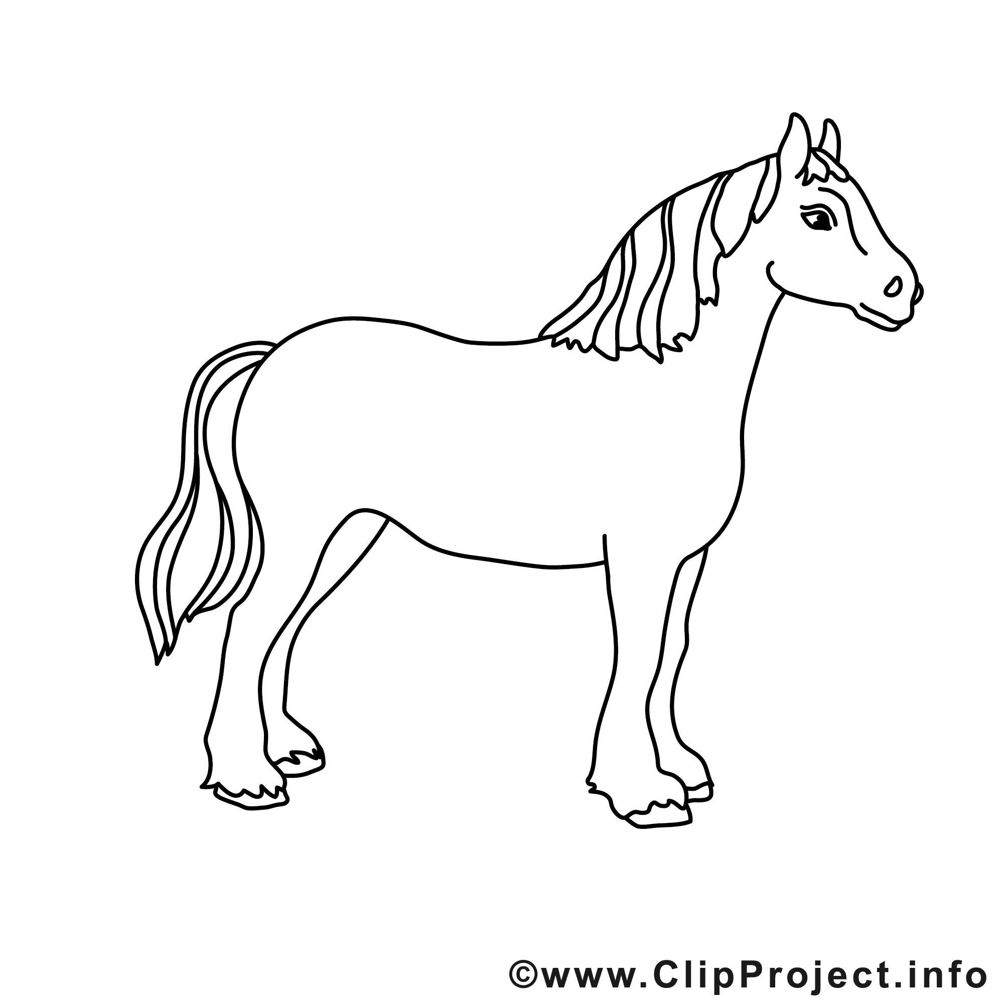 Jument clipart gratuit cheval colorier chevaux - Clipart cheval gratuit ...