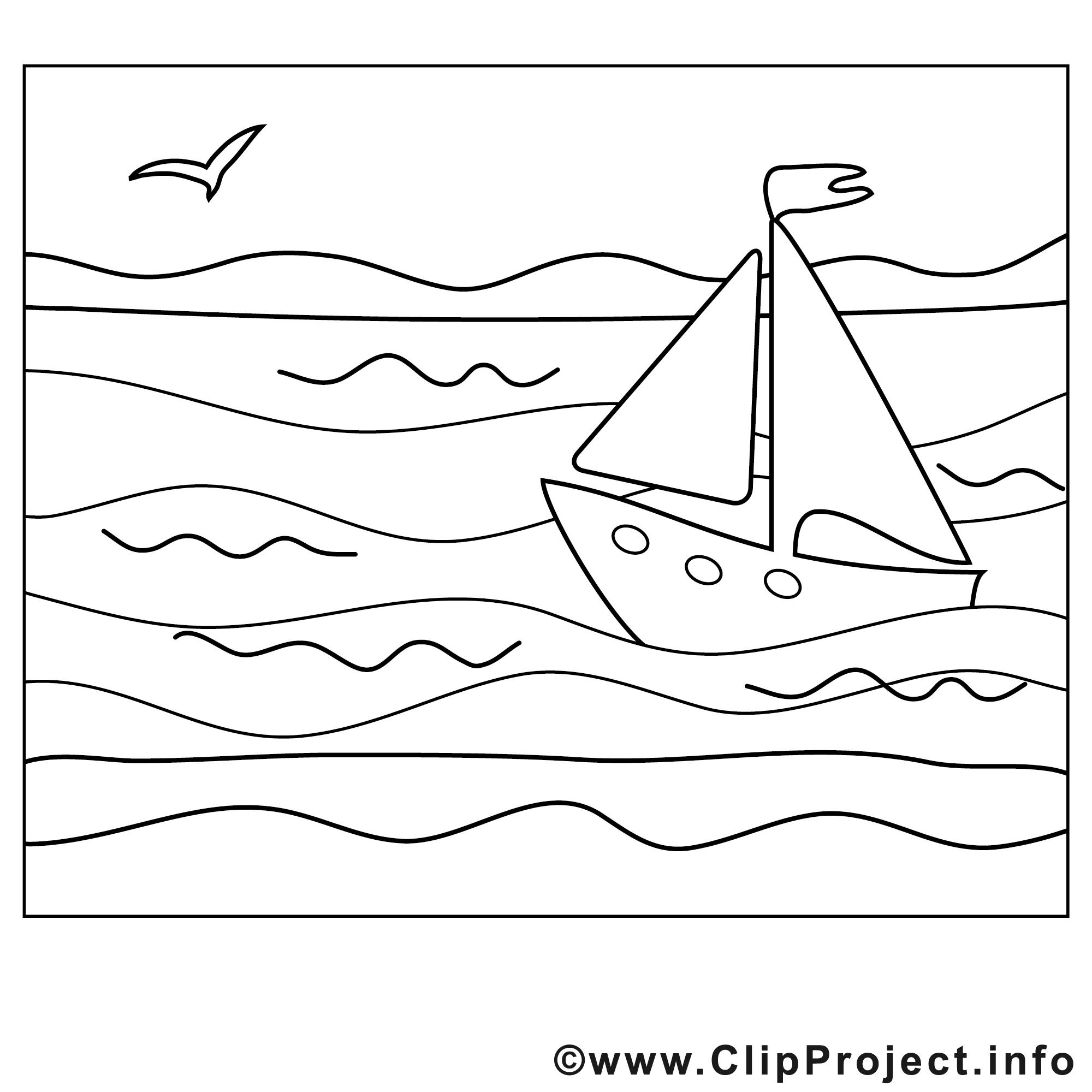 Bateau Mer Image été Images à Colorier été Coloriages Dessin