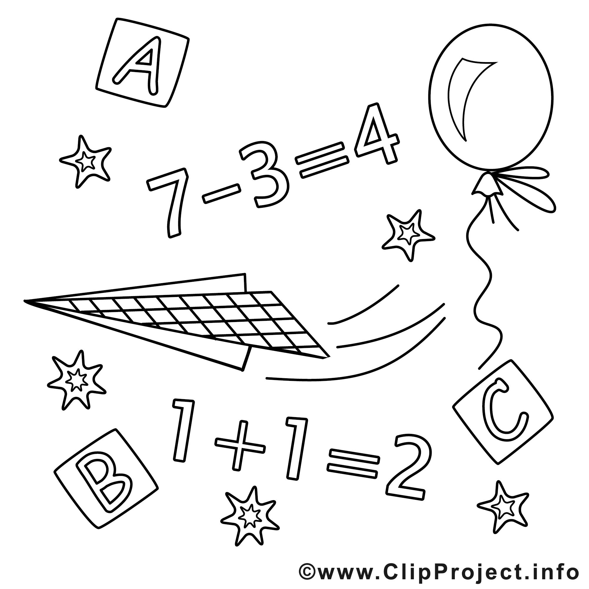 math cliparts gratuis  École à imprimer  l'école