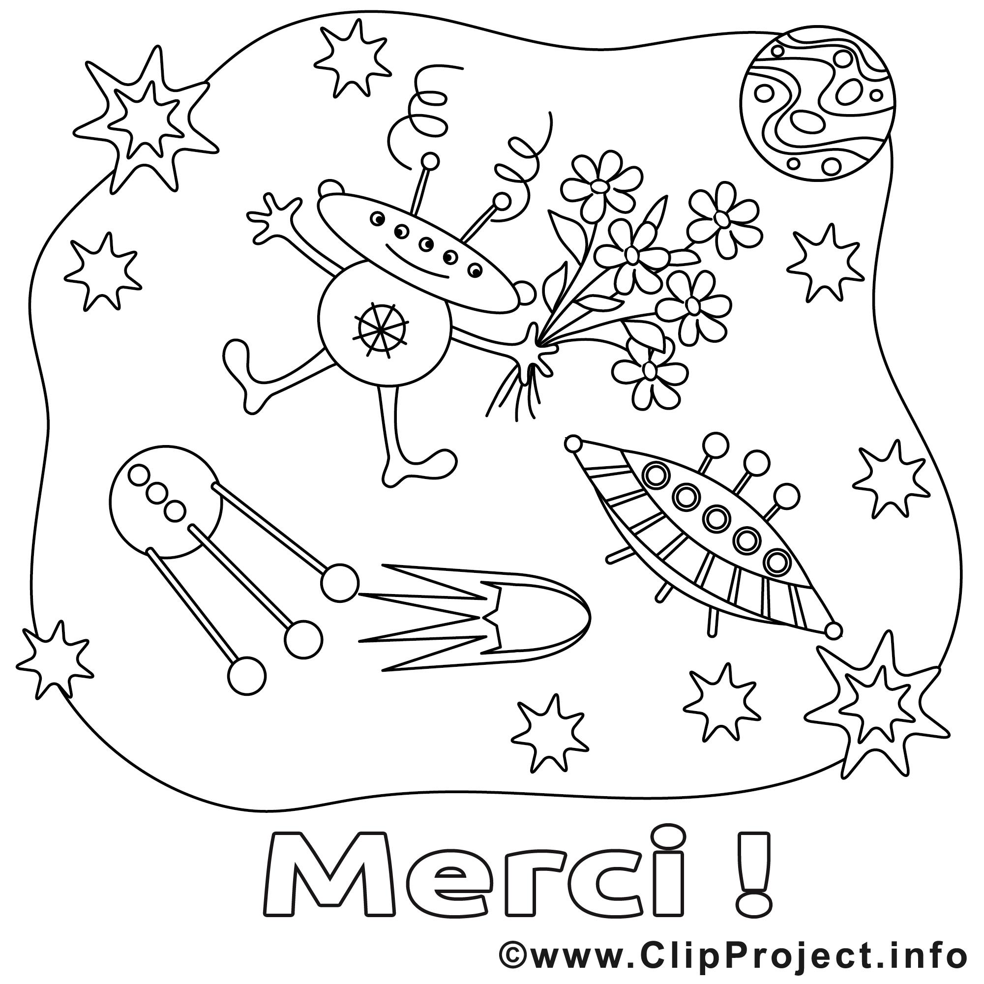 Extraterrestre dessin gratuit merci colorier merci - Coloriage extraterrestre ...
