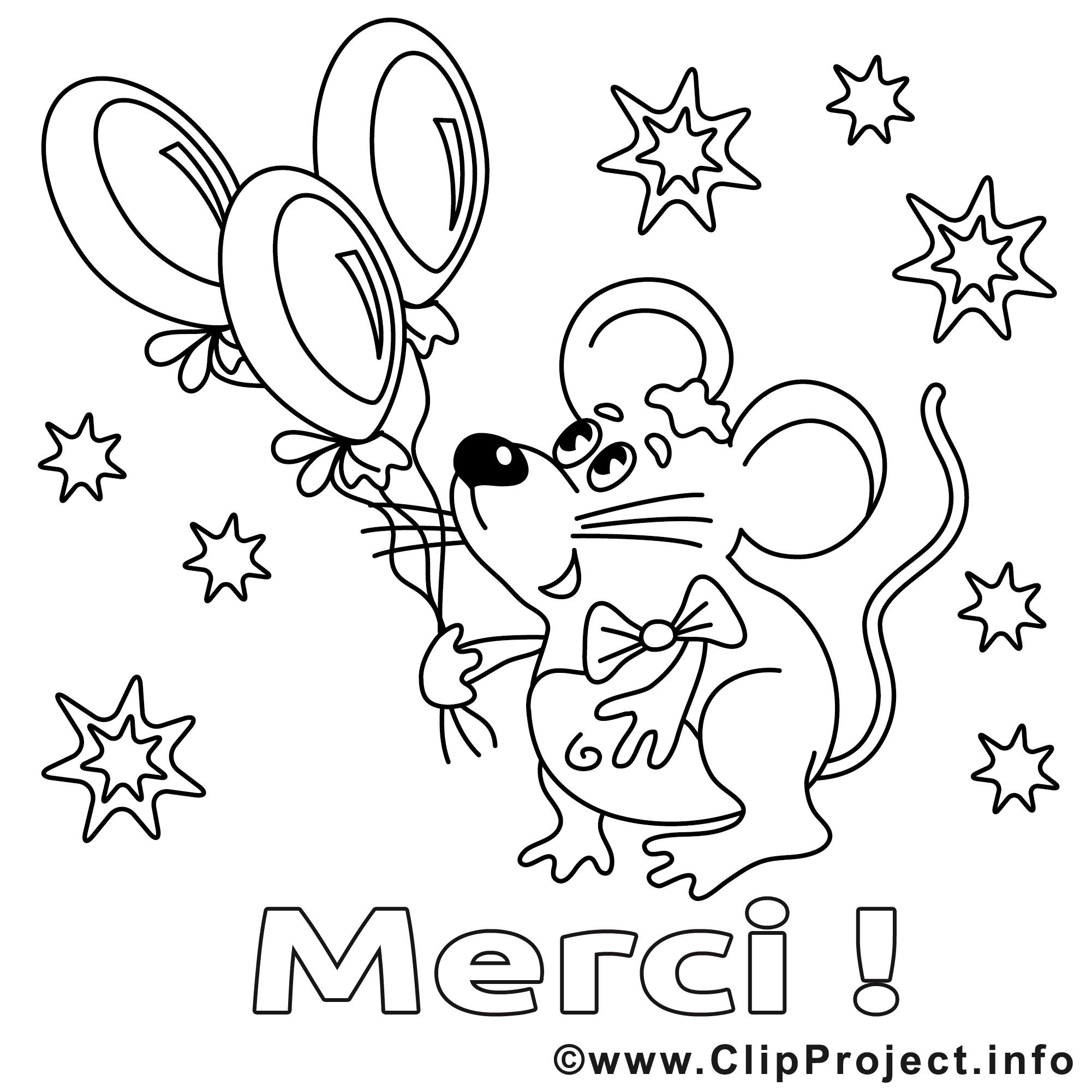 Souris clipart merci dessins colorier merci - Coloriage a colorier ...