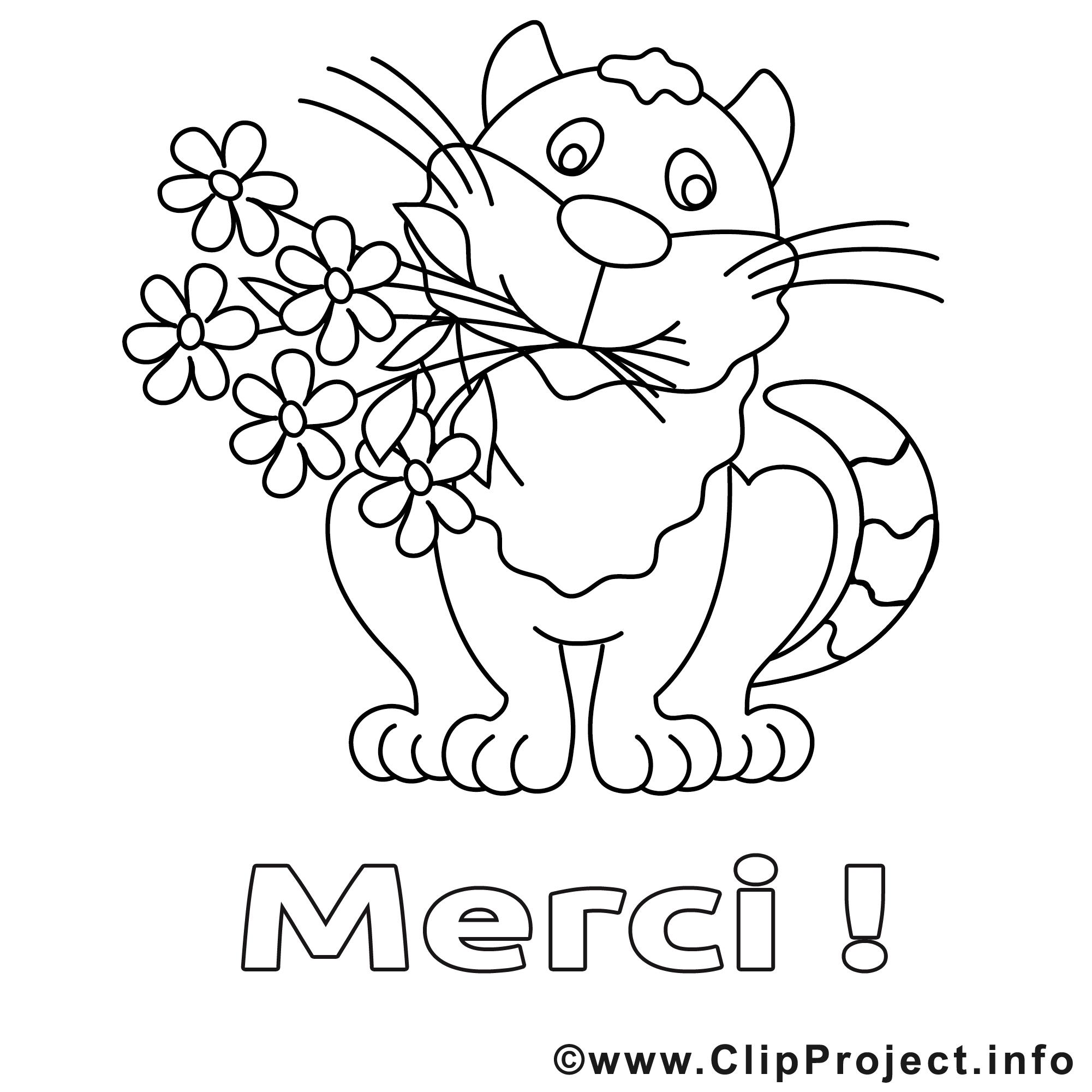 Tigre clip art gratuit – Merci à colorier   Merci coloriages ...