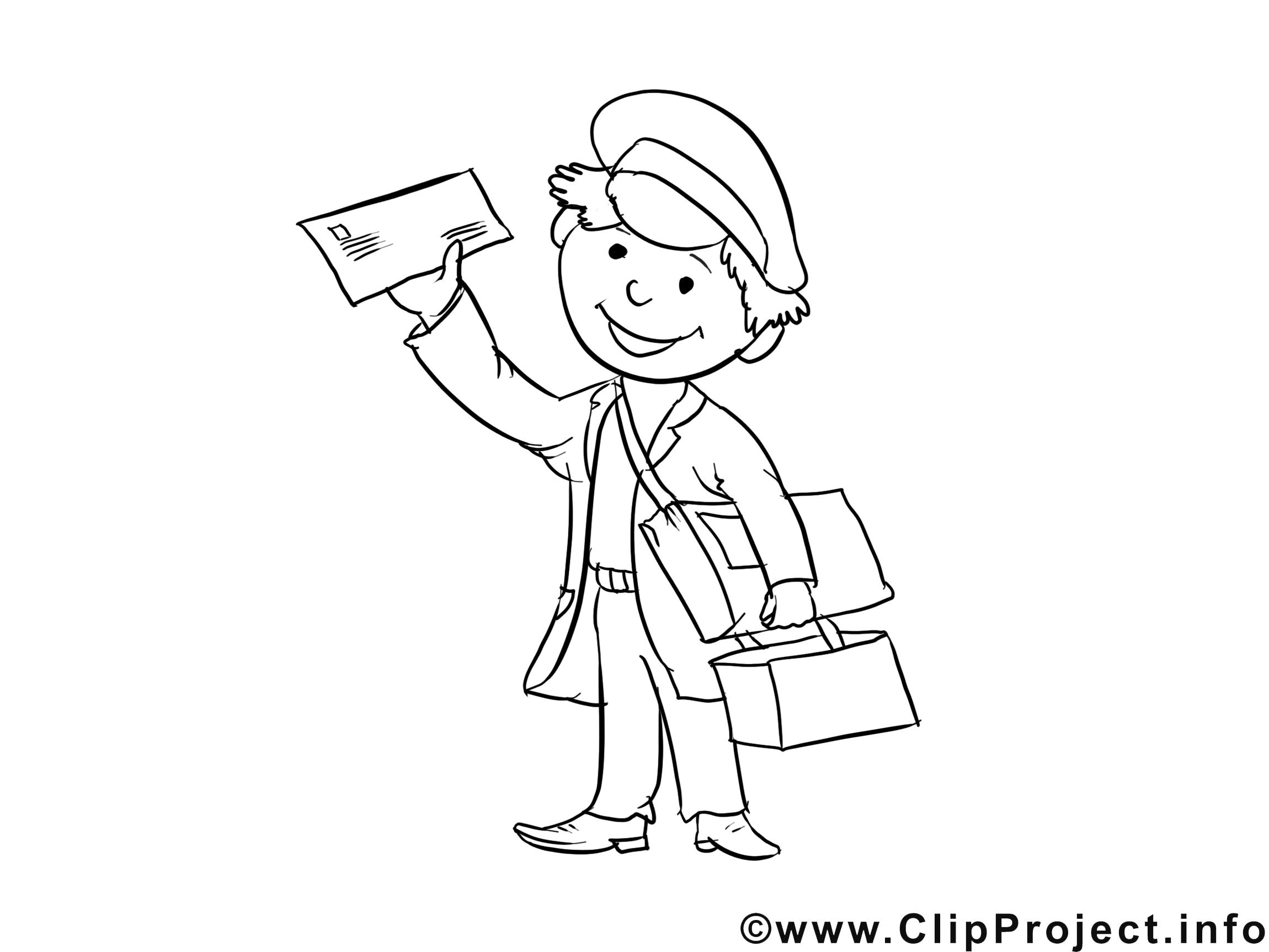 Facteur dessin gratuit m tiers colorier professions coloriages dessin picture image - Facteur dessin ...