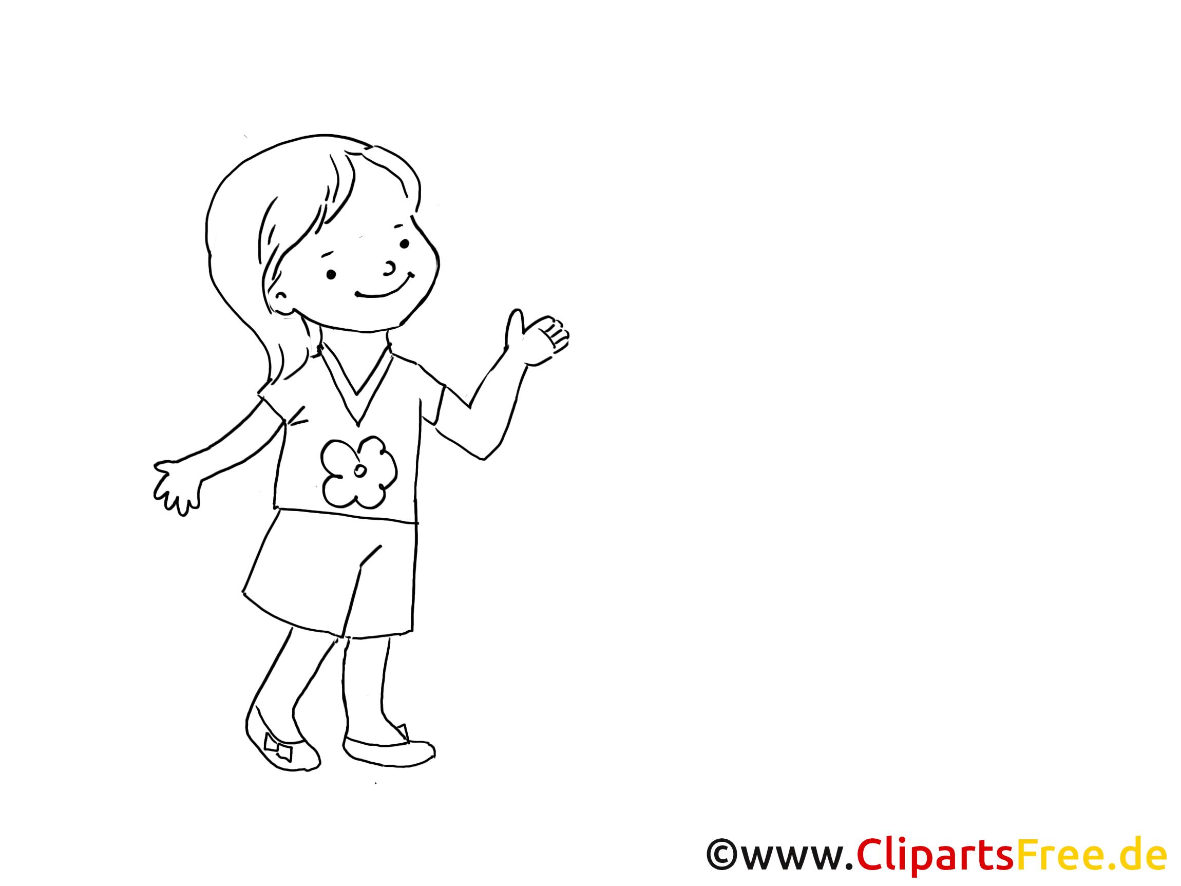 Fille dessin colorier maternelle image gratuite - Fille a colorier ...
