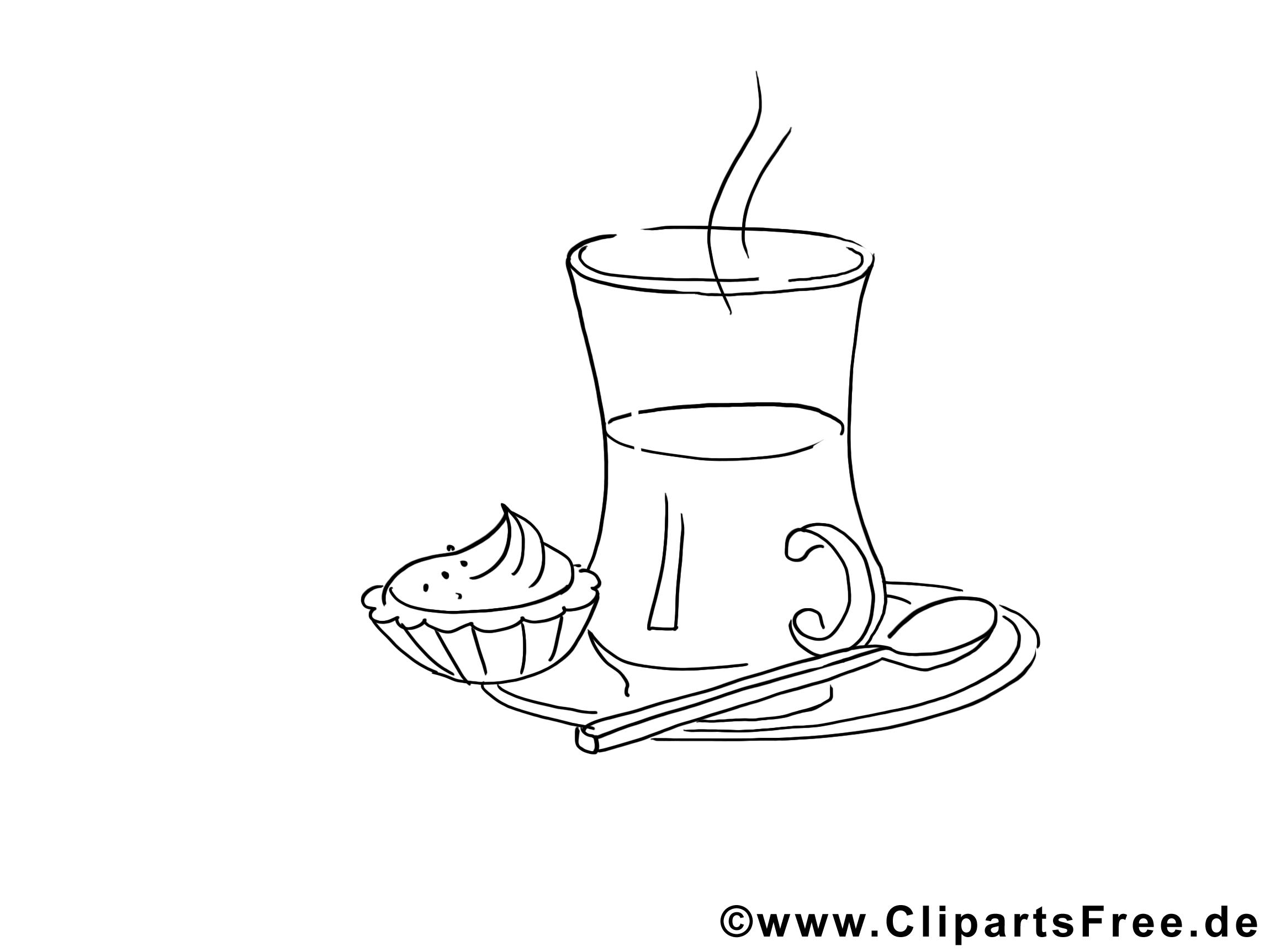 Petit Déjeuner Clip Art à Colorier Dessin Divers Dessin