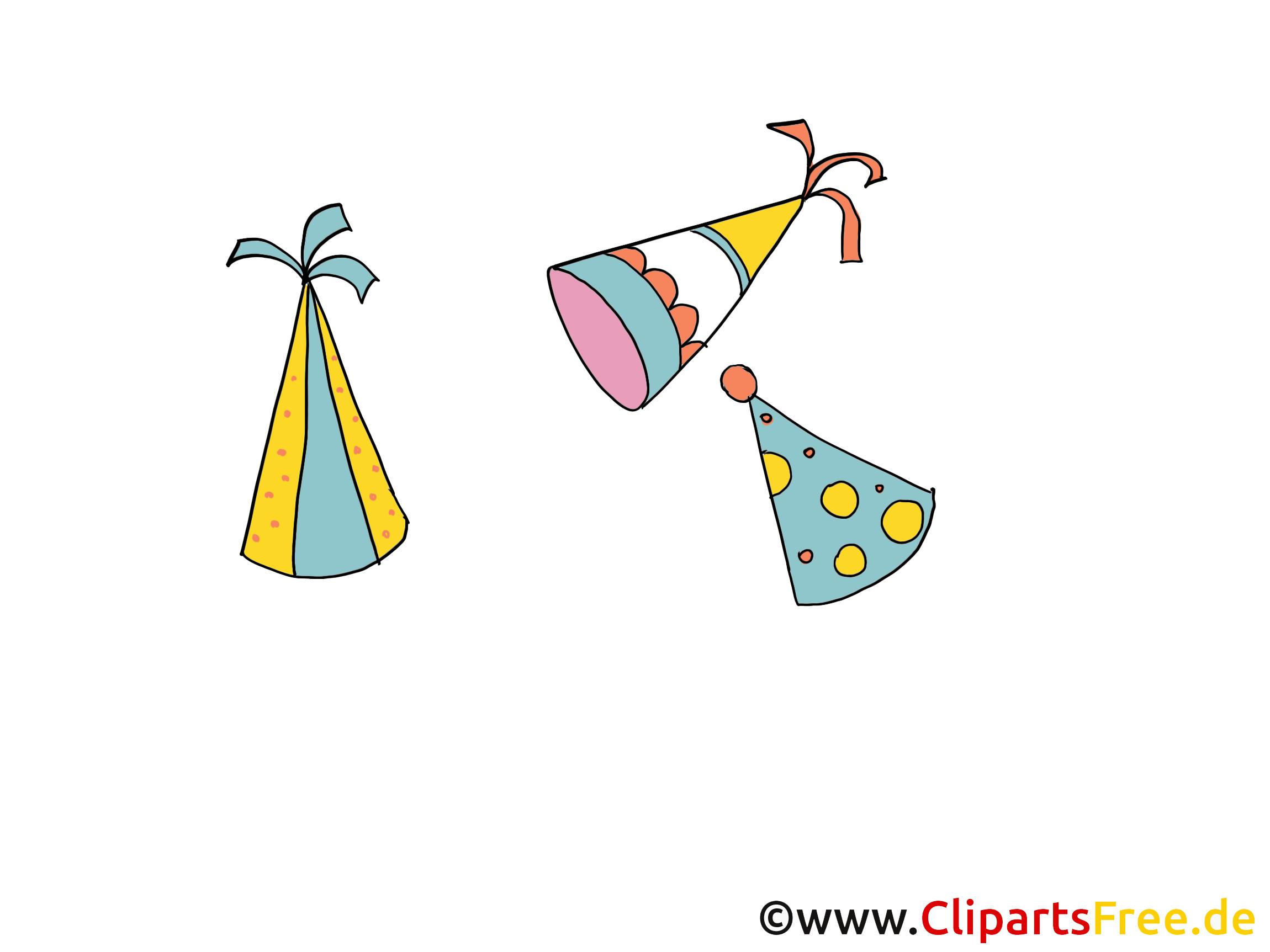Chapeau de fête dessins - Soirée clipart gratuit - Faire ...