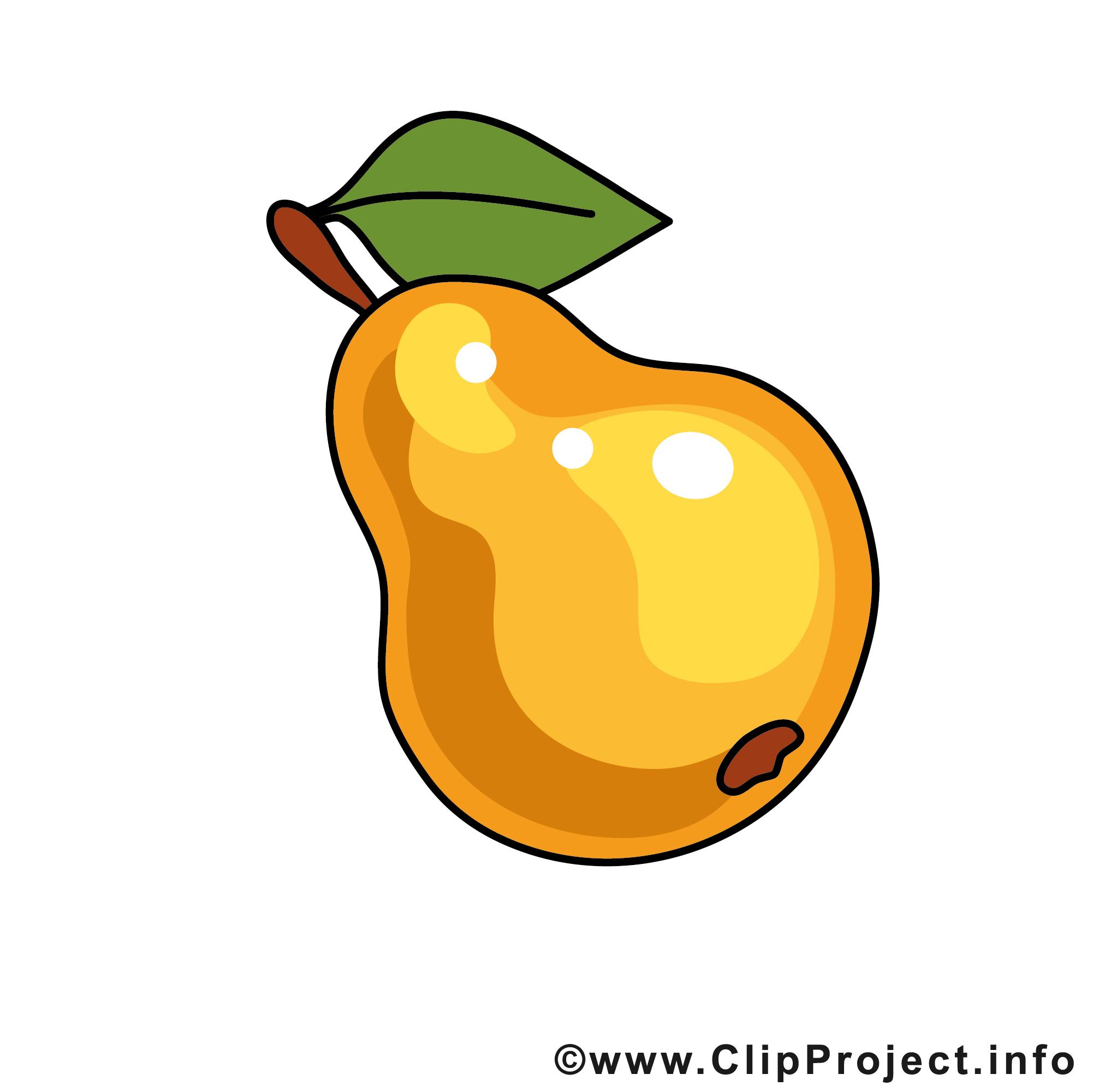 poire clip art gratuit u2013 fruits images fruits et légumes dessin