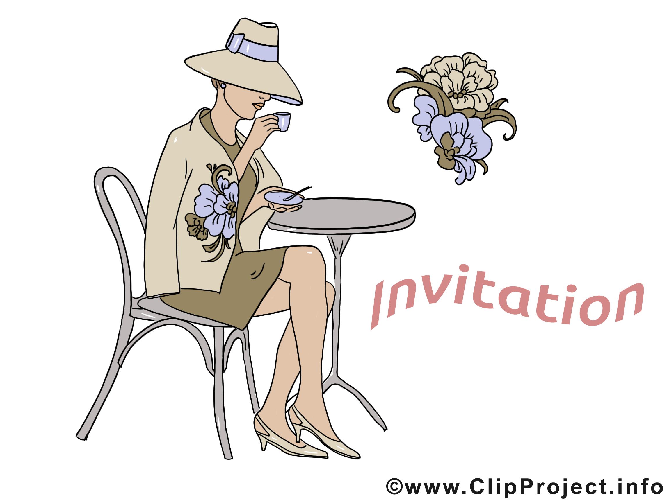 Femme dessin invitation clip arts gratuits invitations dessin picture image graphic clip - Dessin invitation ...
