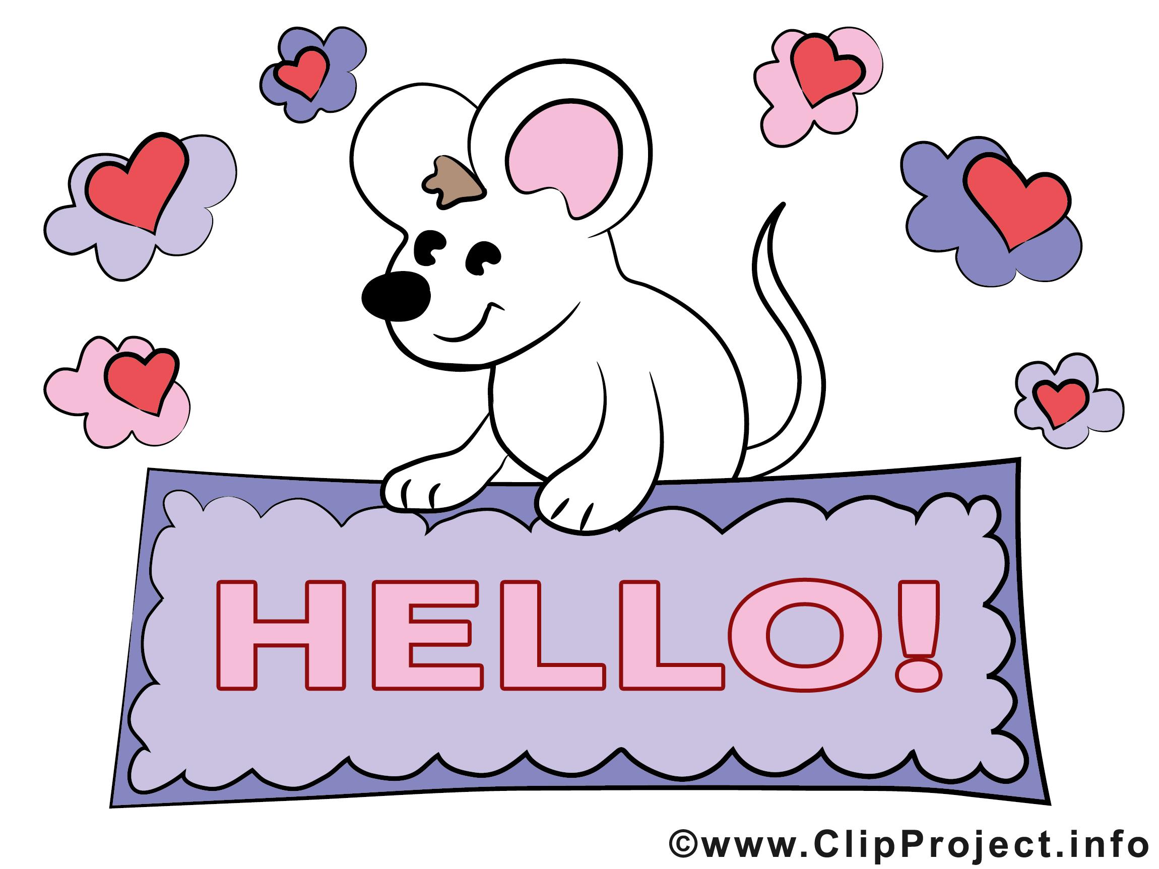 Souris Clipart Gratuit Salut Images Bonjour Dessin Picture Image Graphic Clip Art Telecharger Gratuit