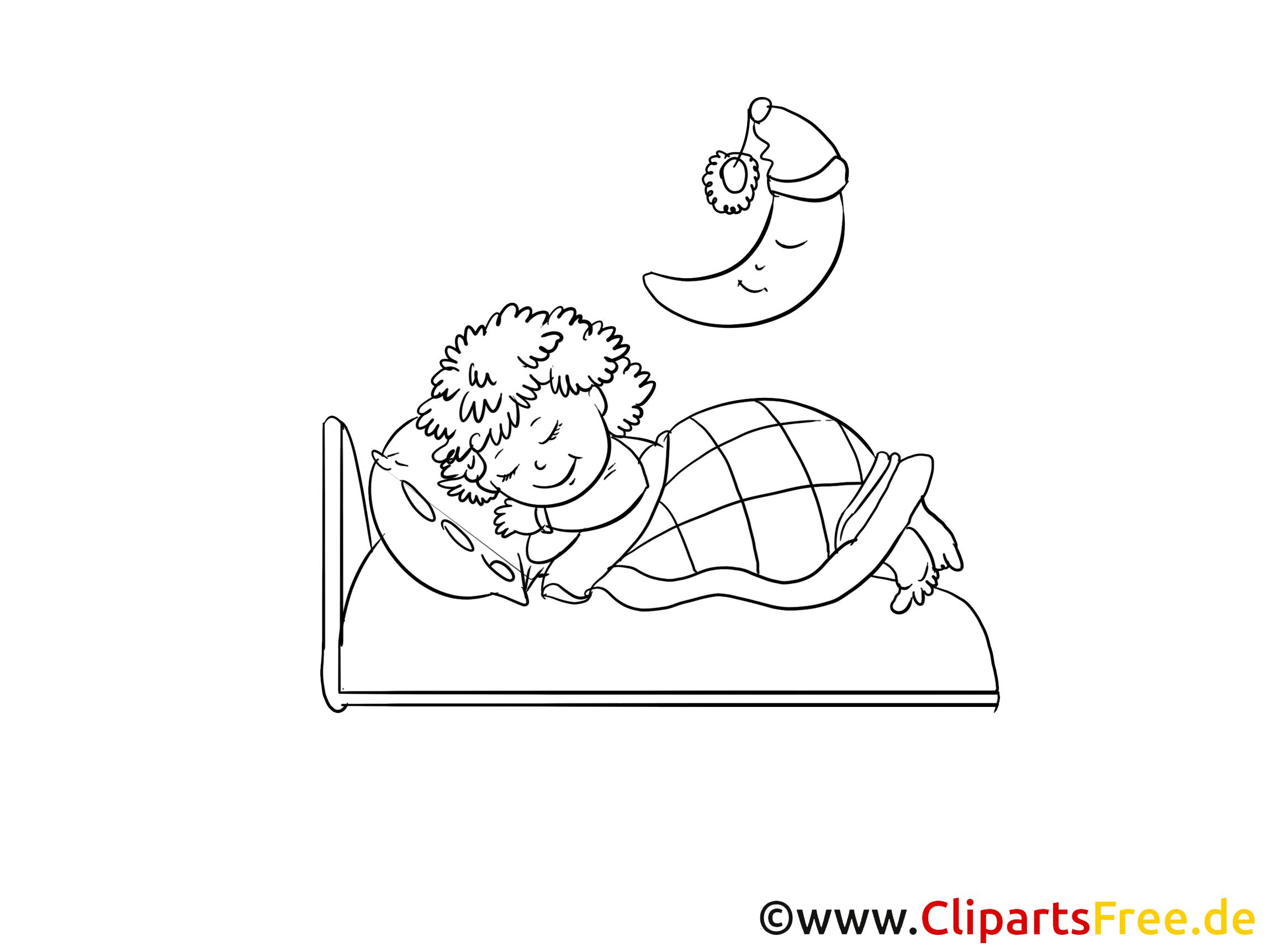 Cliparts à imprimer lit - Bonne nuit images - Bonsoir ...