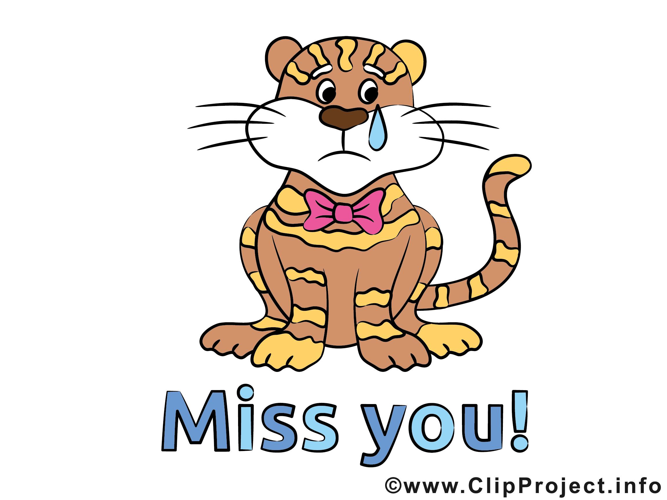 Illustrations Gratuites tigre clip arts gratuits - tu me manques illustrations gratuites