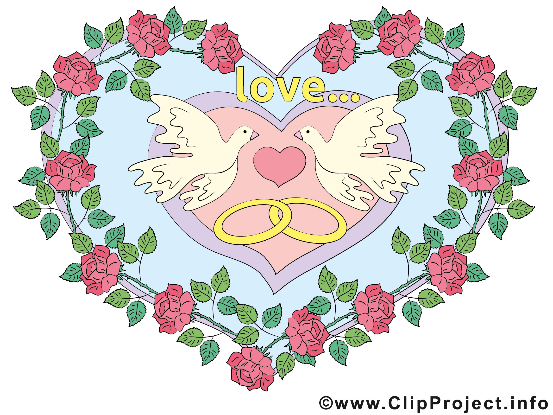Colombes dessin gratuit mariage image mariage dessin picture image graphic clip art - Dessin anniversaire de mariage ...