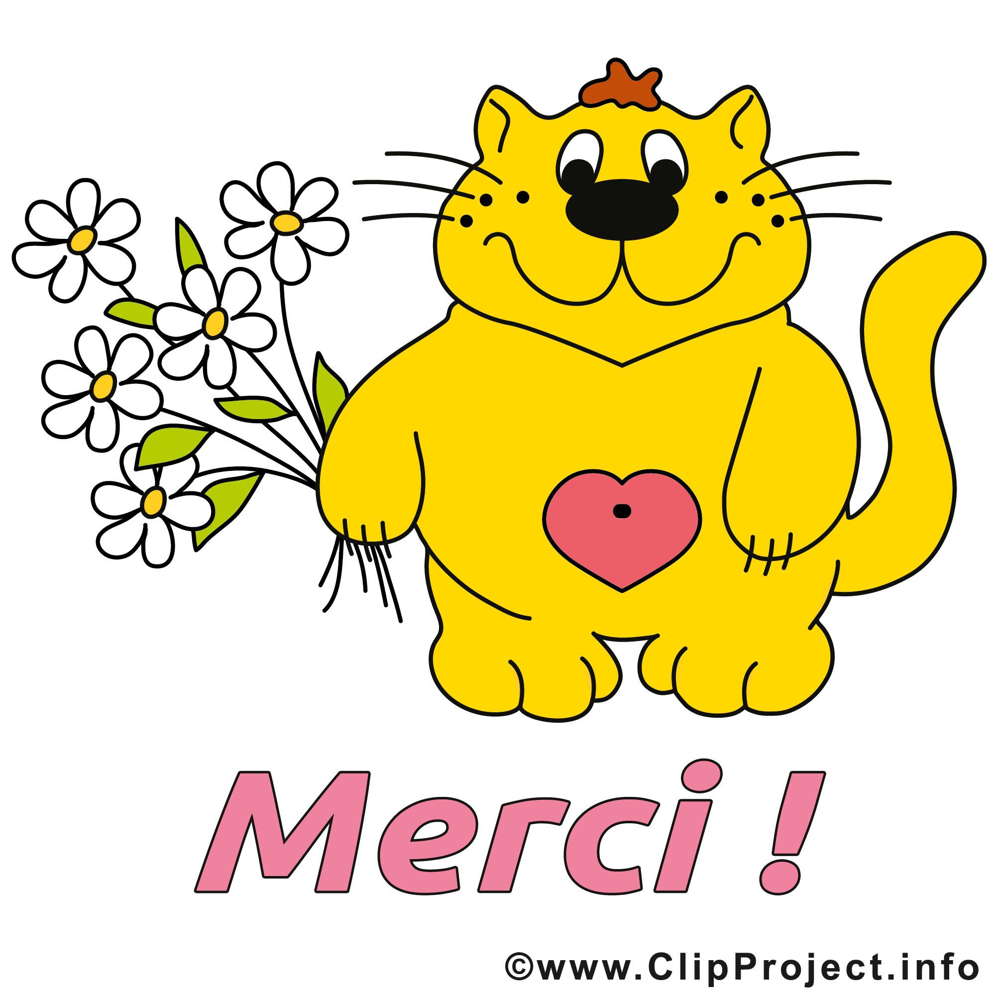 Chat dessin - Merci clip arts gratuits - Merci dessin ...