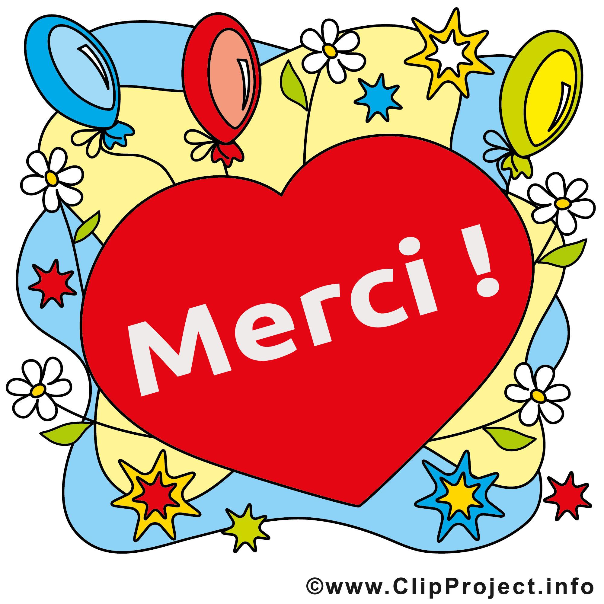 Coeur illustration gratuite merci clipart merci dessin - Images coeur gratuites ...