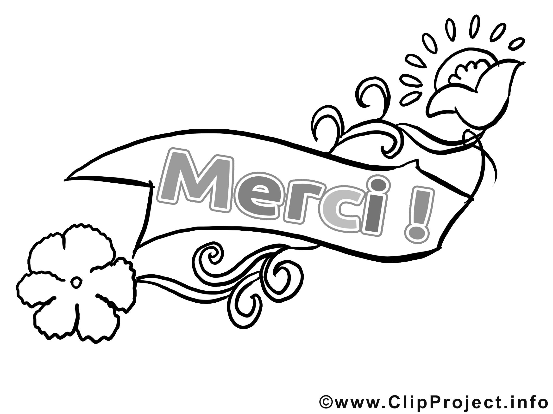 Fleurs clipart à imprimer - Merci dessins gratuits - Merci ...