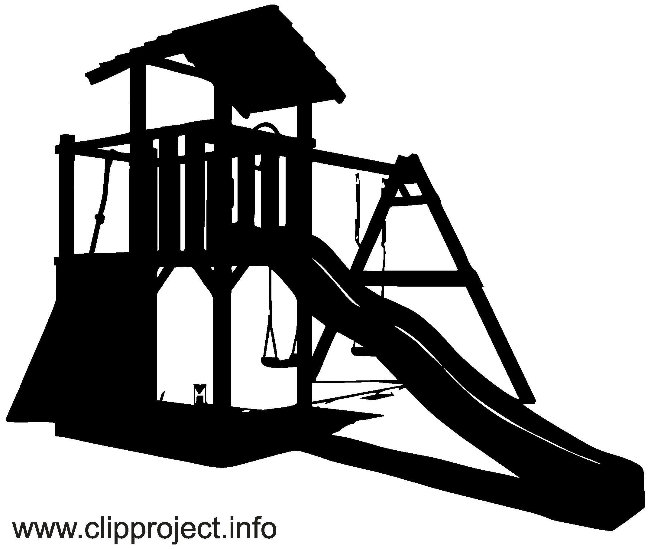 aire de jeux clip art gratuit - noir et blanc dessin