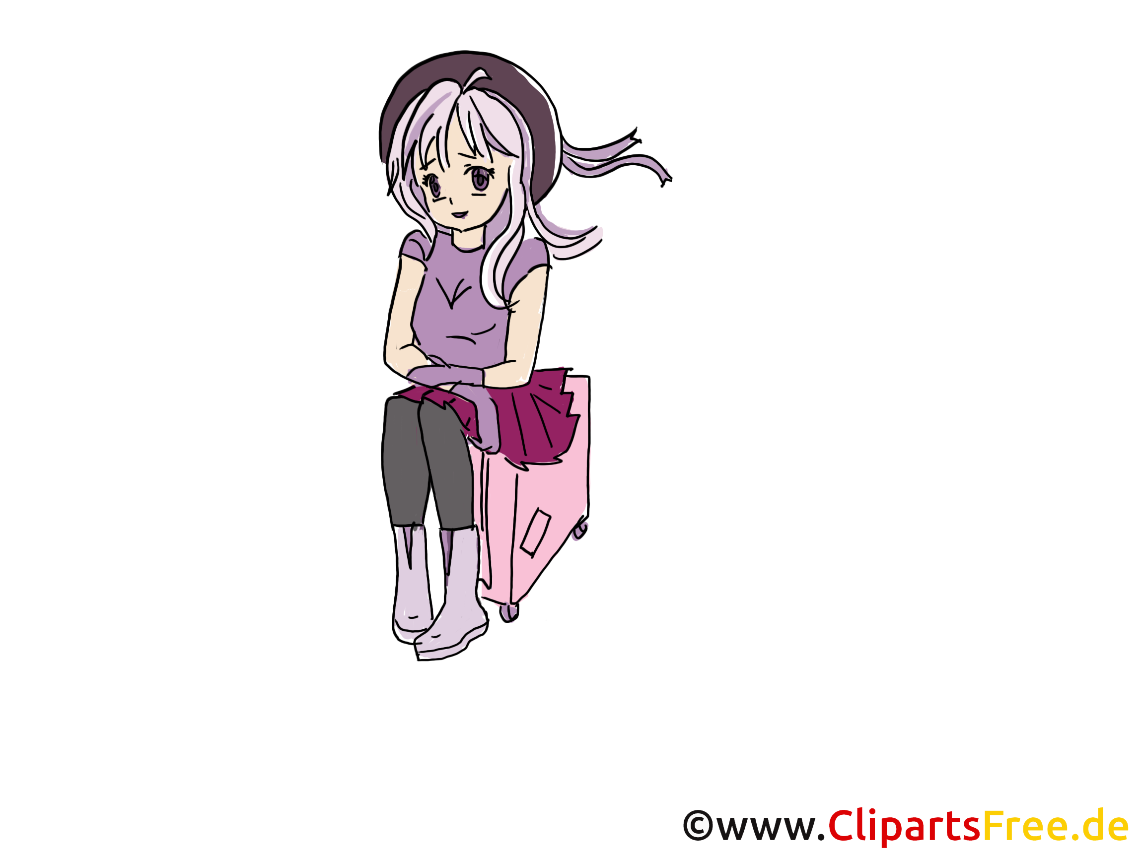Valise dessin anime cliparts t l charger personnes - Dessin de valise ...