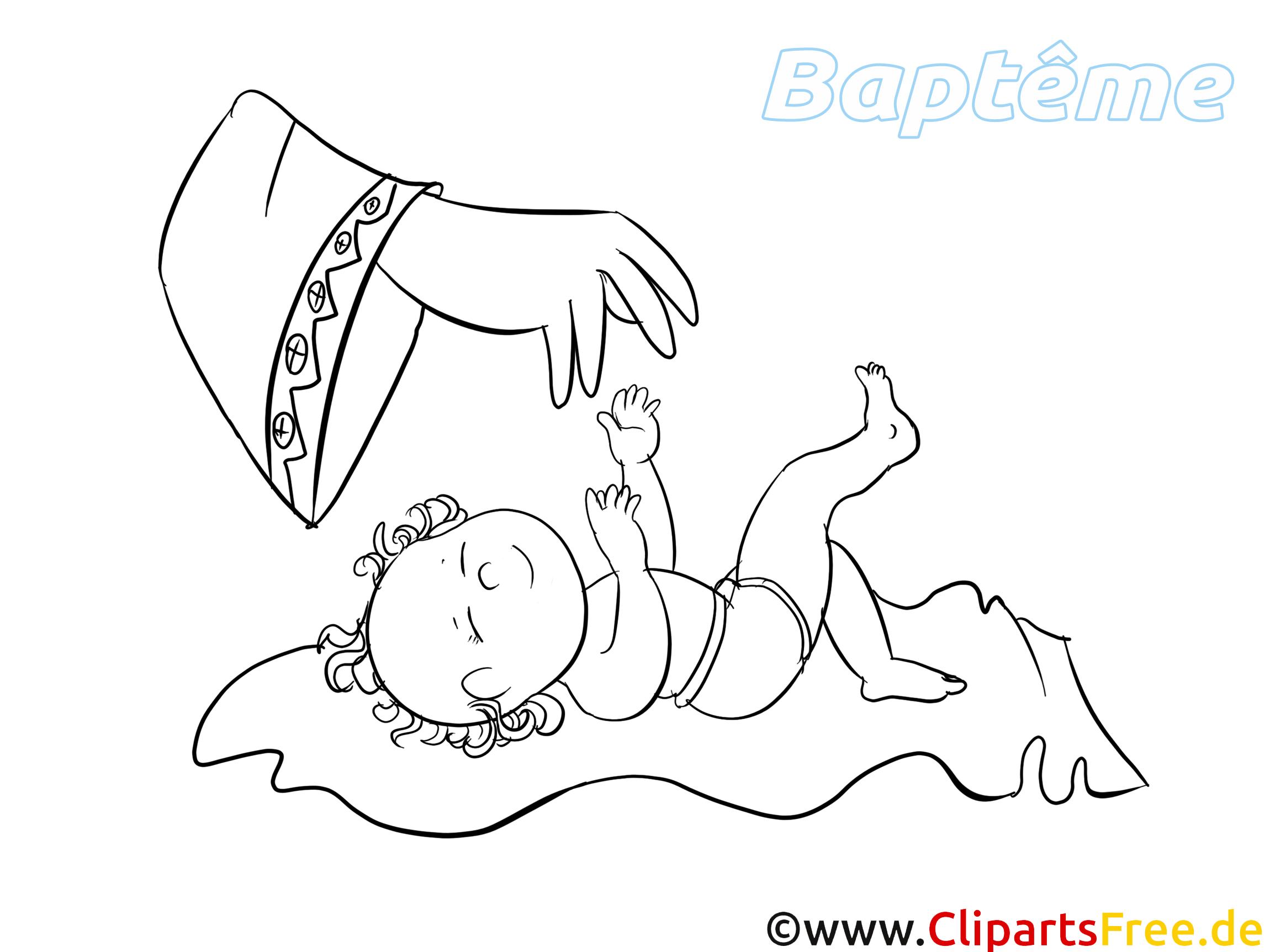 Baptême coloriage - Bébé dessin - Baptême dessin, picture, image, graphic, clip art télécharger ...
