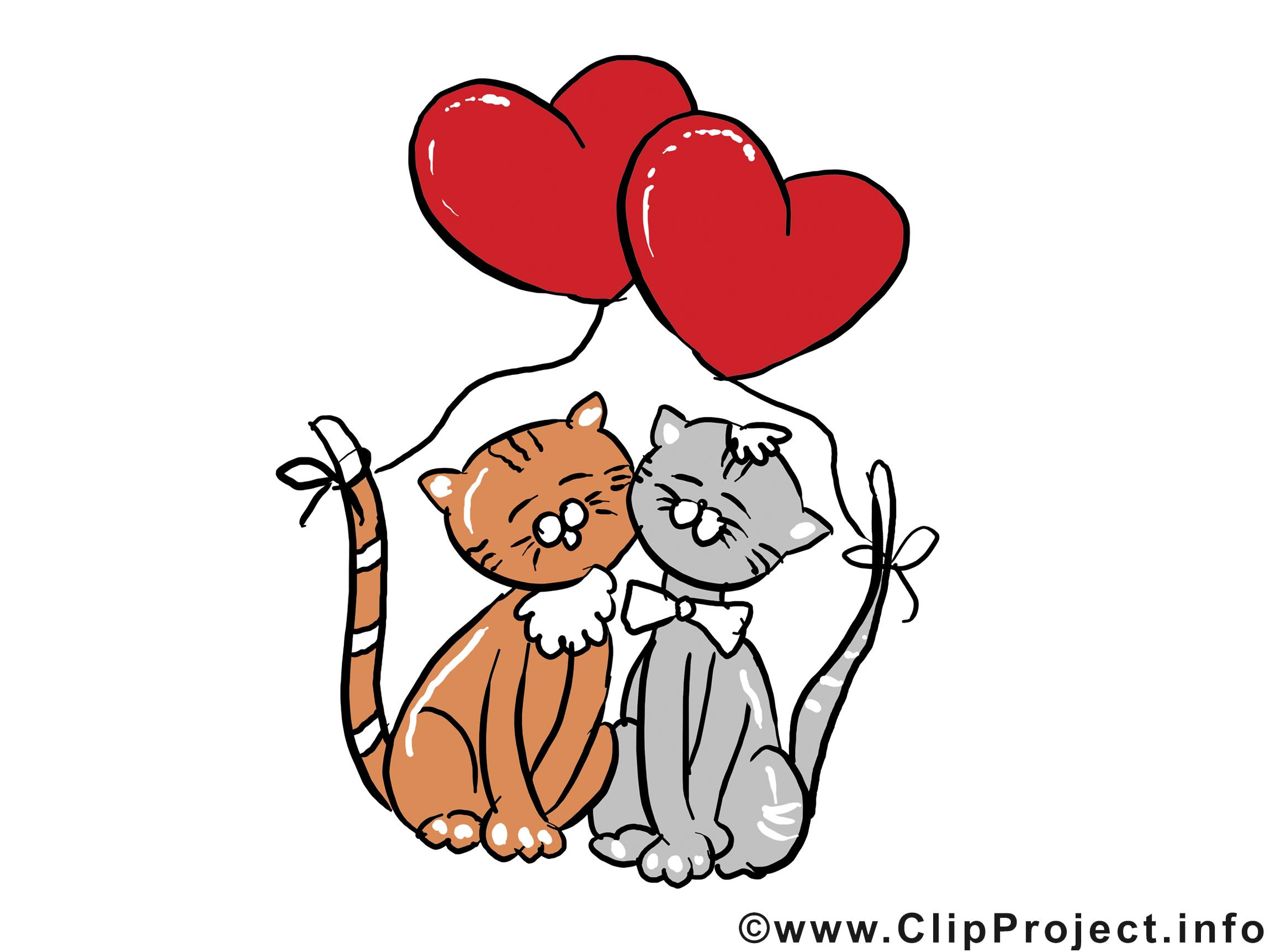 Chats jolie carte saint valentin images gratuites saint valentin cartes mariage dessin - Telecharger image de chat gratuit ...