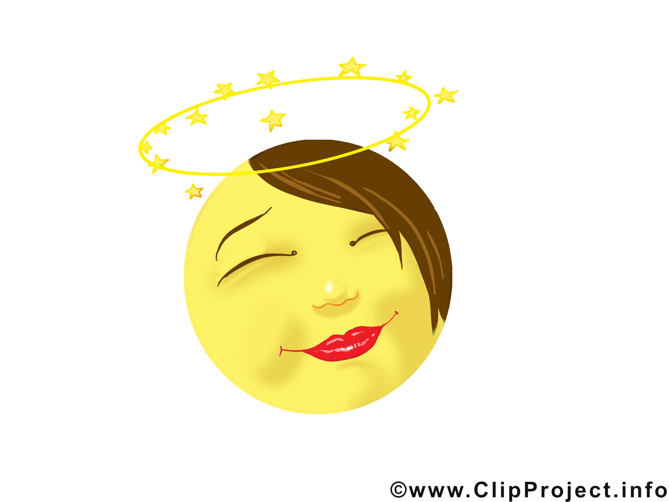 Illustrations Gratuites ange émoticône illustrations gratuites - smileys dessin, picture