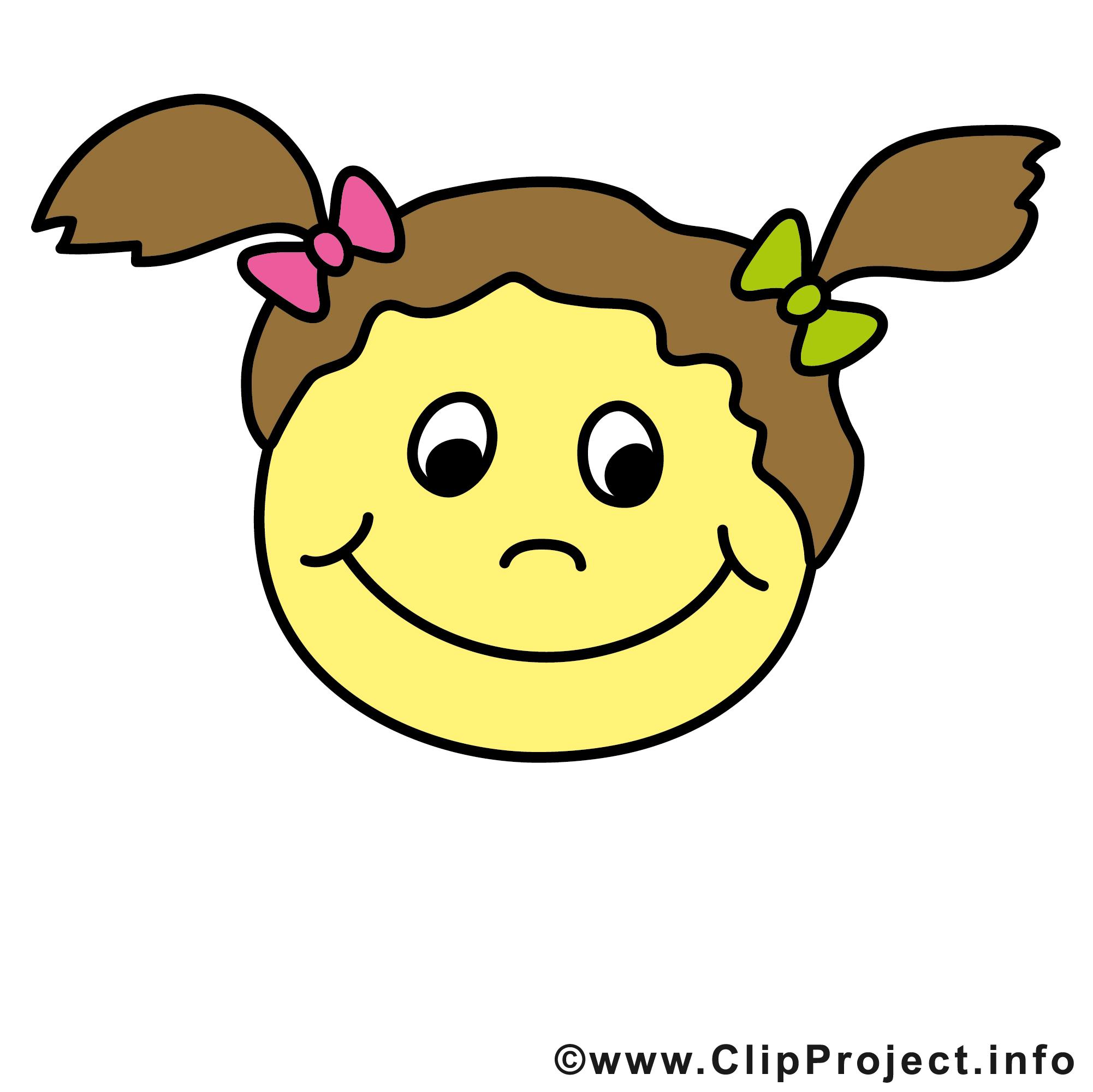 Fille smiley clipart gratuit smileys dessin picture - Image smiley gratuit ...