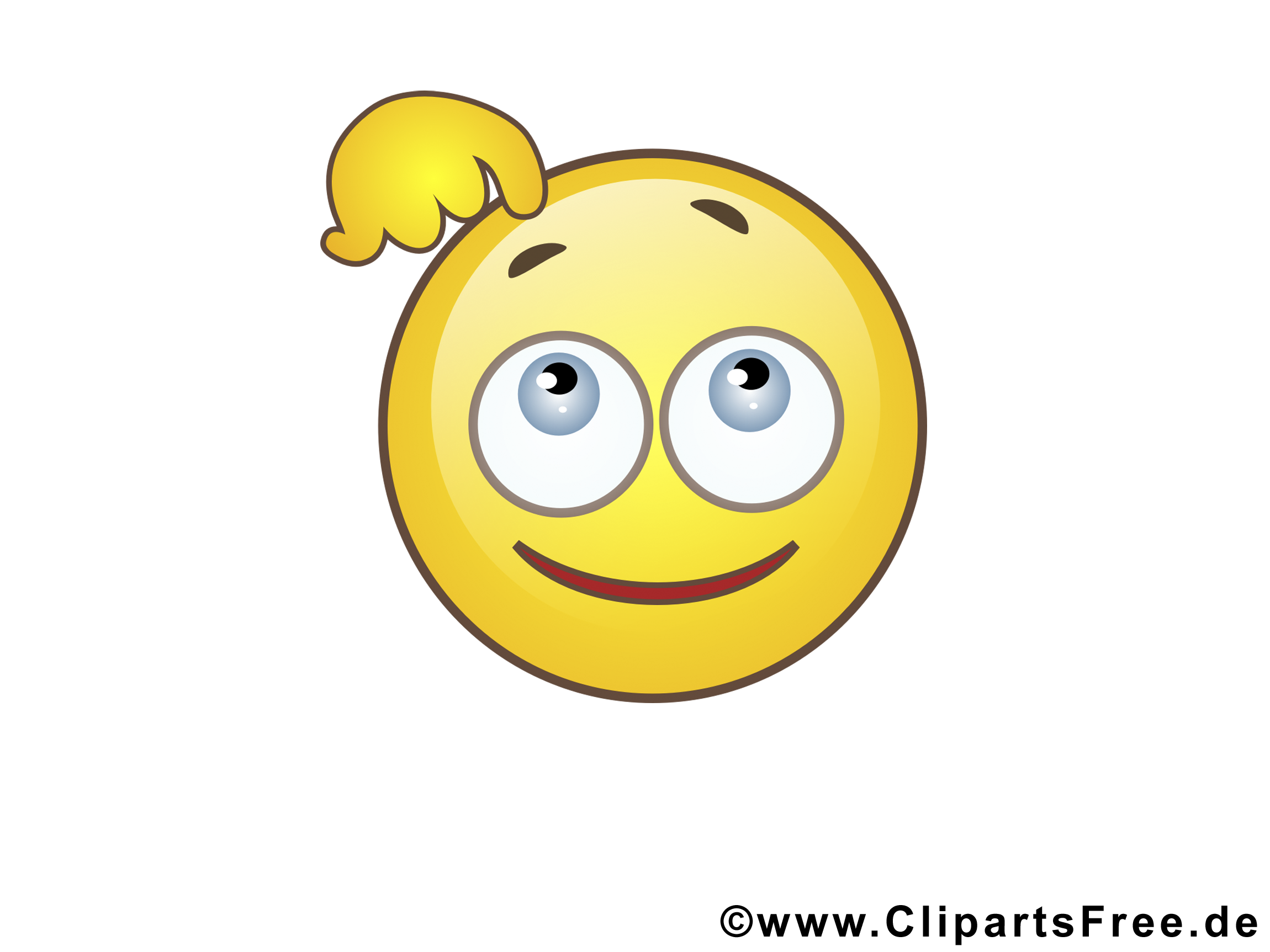 Pensif smiley illustration smileys dessin picture - Image smiley gratuit ...