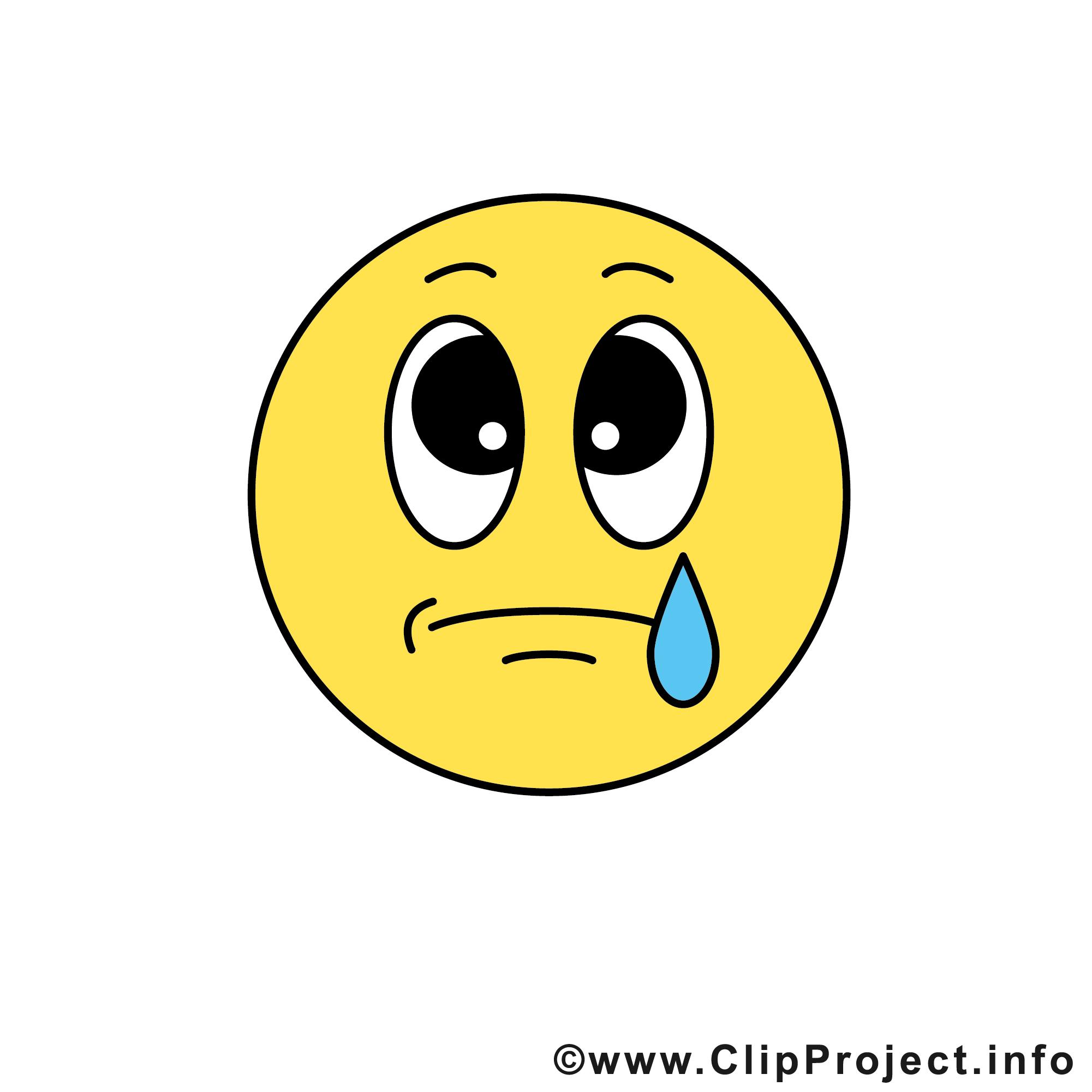 Pleure émoticône clipart gratuit - Smileys dessin, picture