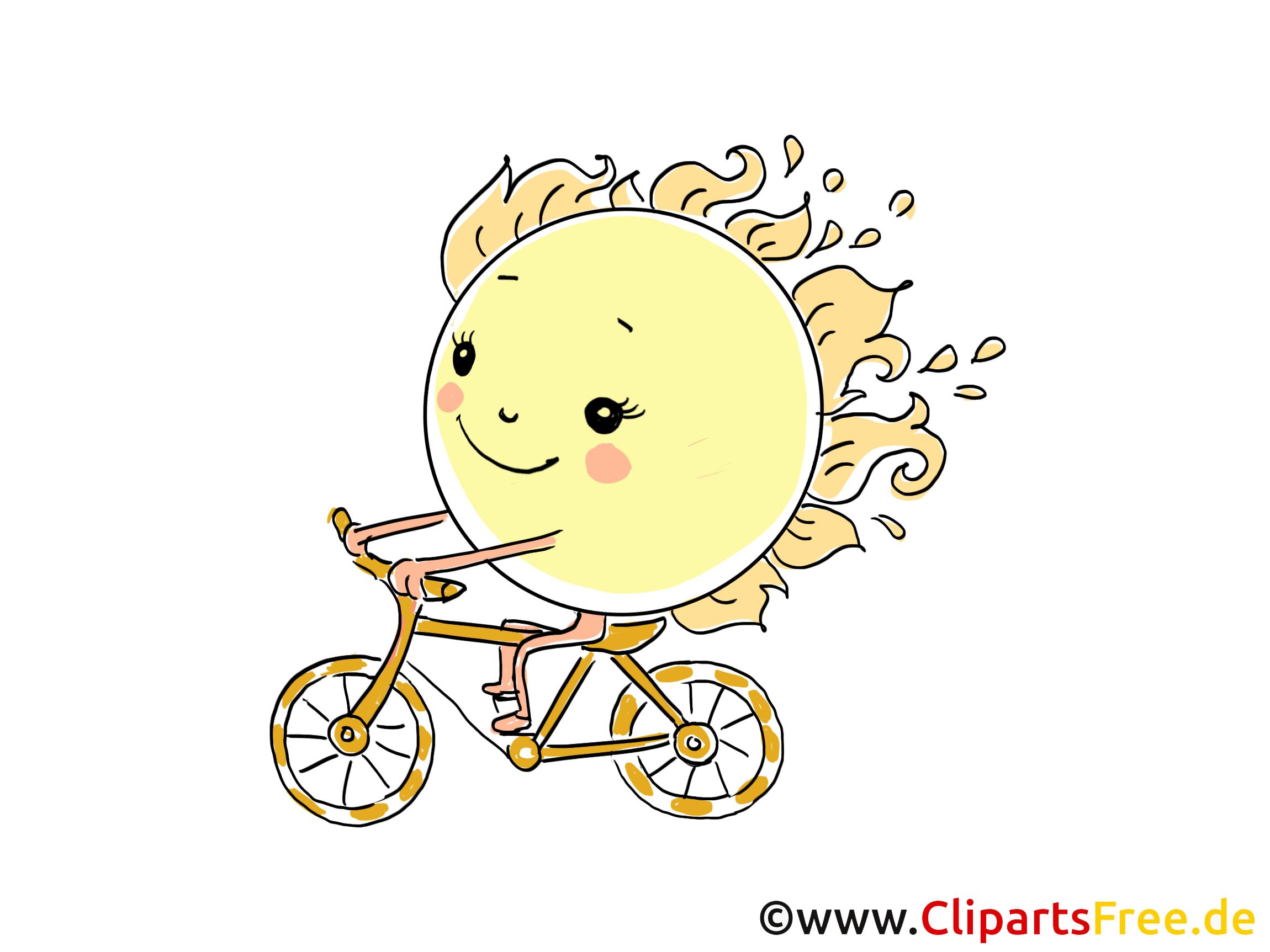 Bicyclette dessin soleil cliparts t l charger temps - Bicyclette dessin ...
