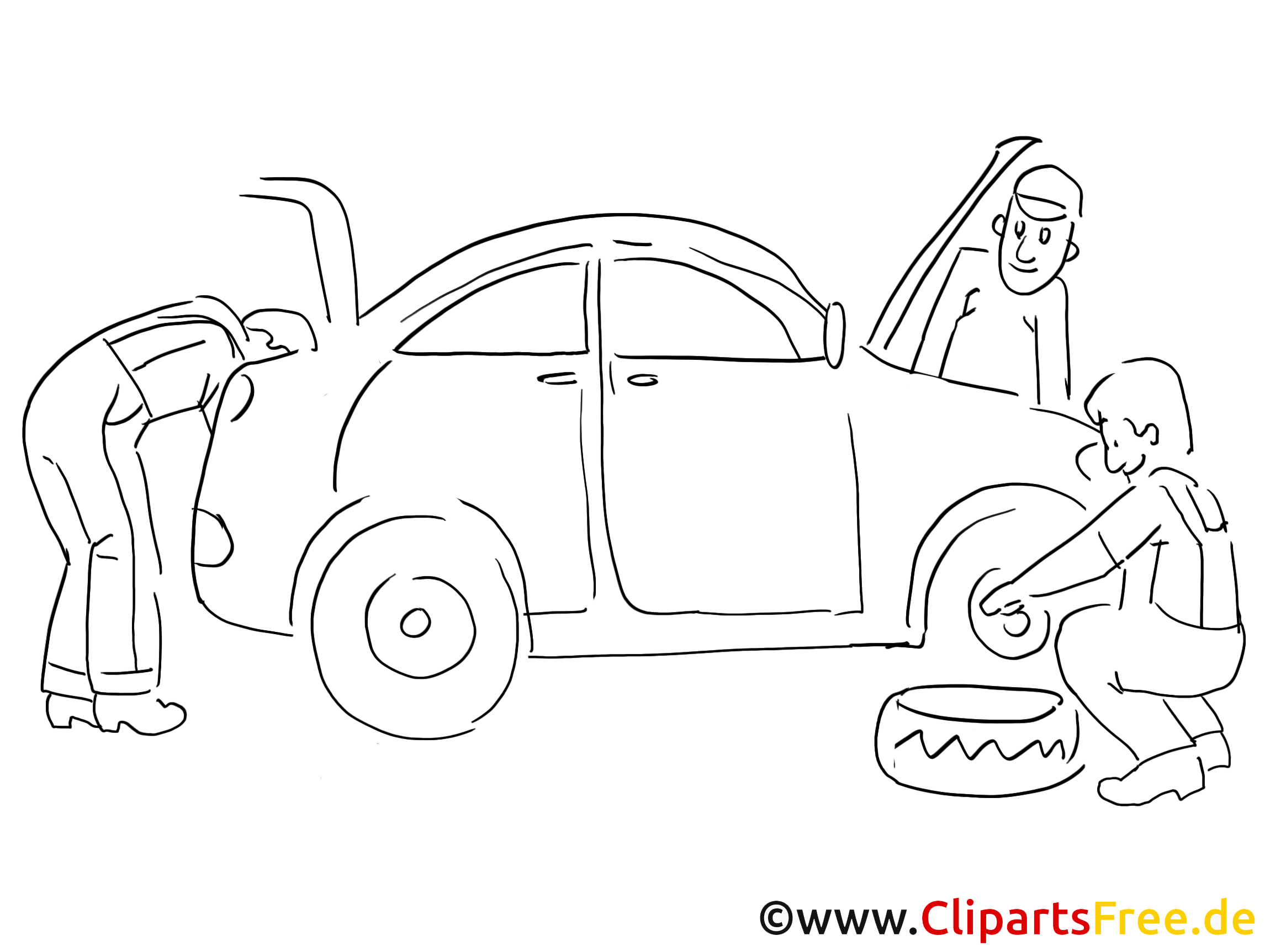Garage automobile de coloriage page voitures dessin picture image graphic clip art - Dessin garage ...