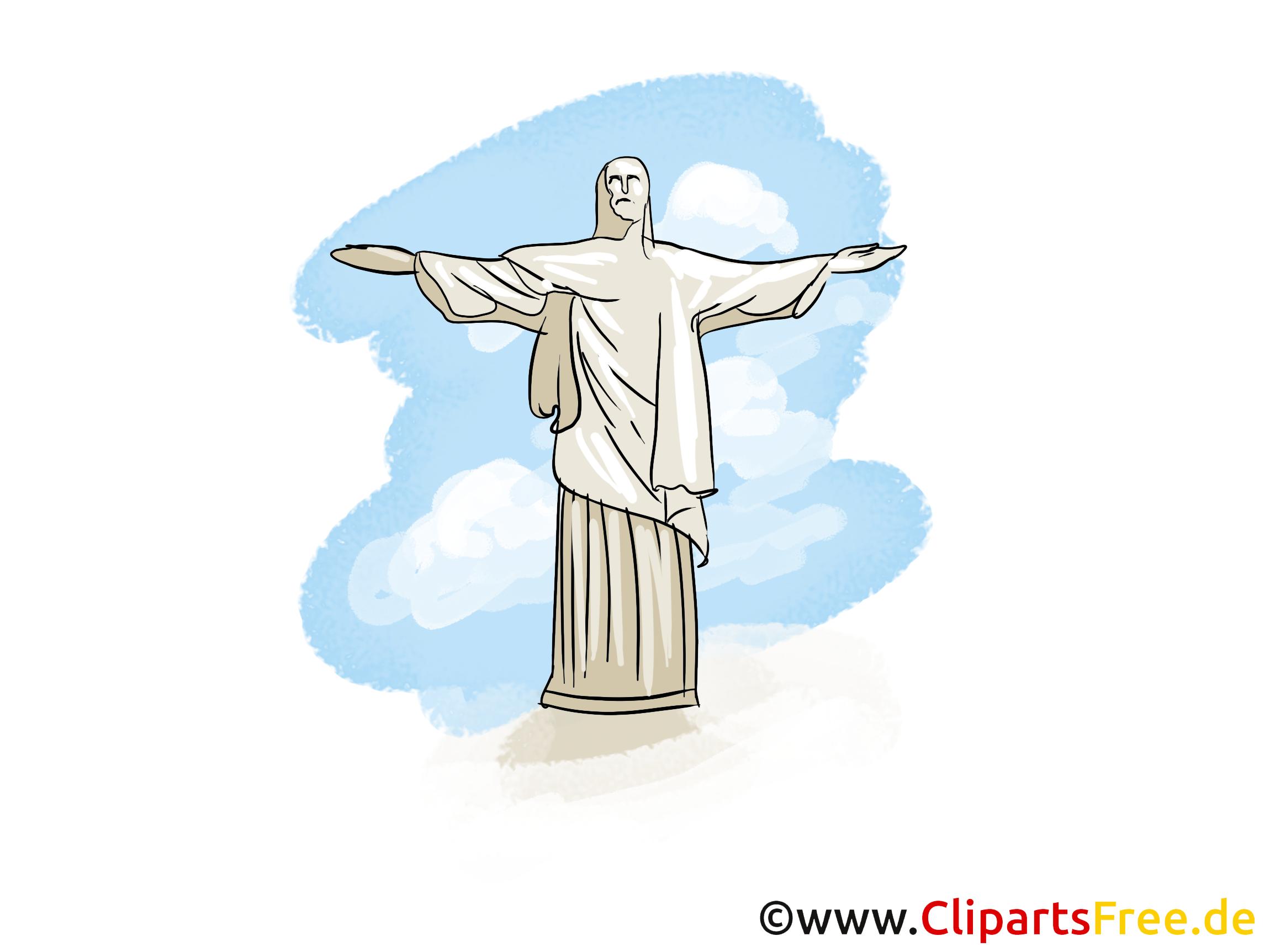 Dessin Christ Redempteur christ rédempteur image - rio de janeiro cliparts - voyage dessin