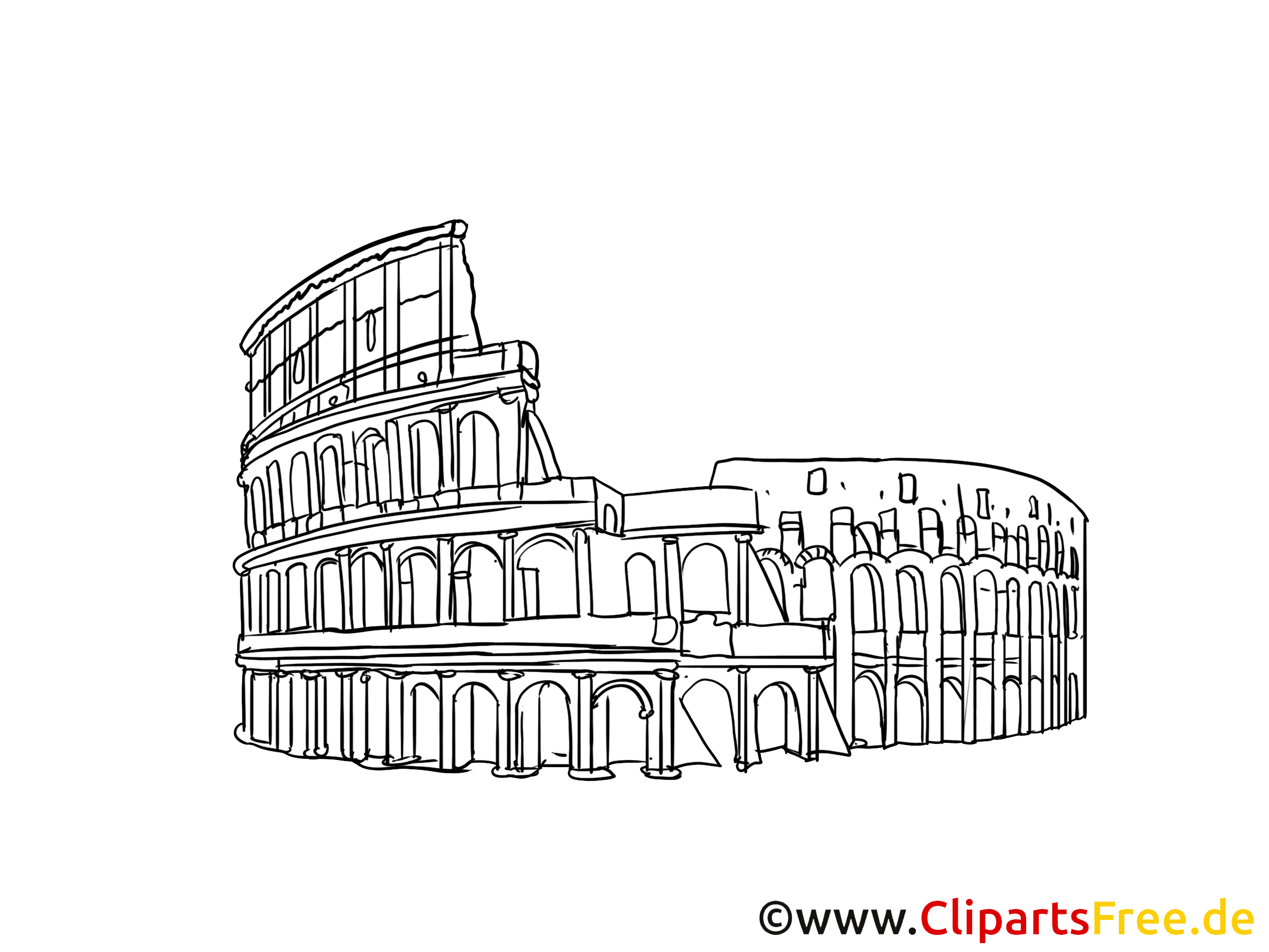 rome clipart gratuit  colisée cartes gratuites  voyage