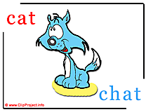 Cat - chat abc image Dictionnaire Anglais Français