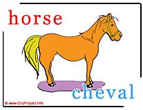 Horse - cheval abc image dictionnaire anglais francais