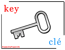 Key - cle abc image dictionnaire anglais francais
